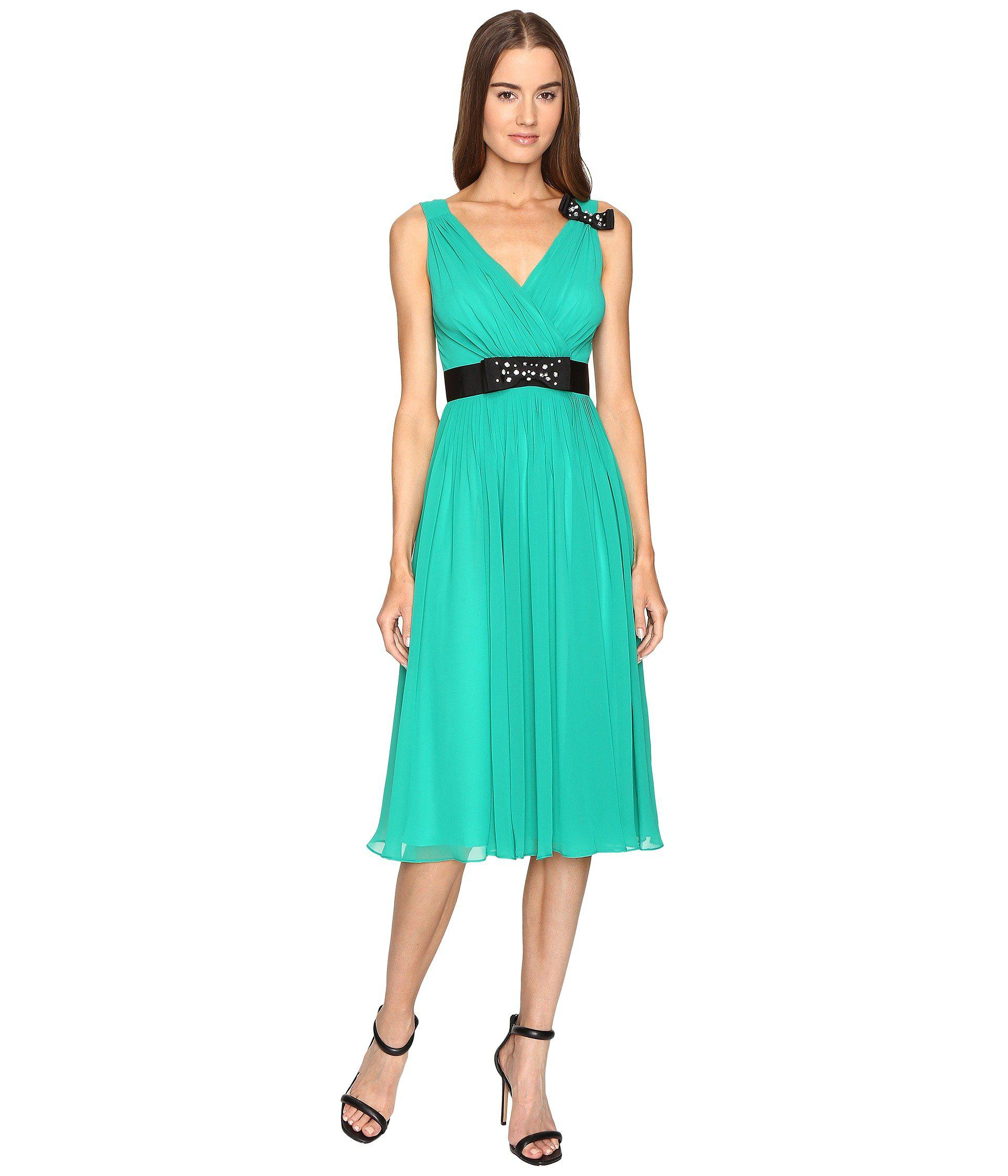 8e98b4a354 Lyst - Kate Spade Embellished Bow Dress in Green