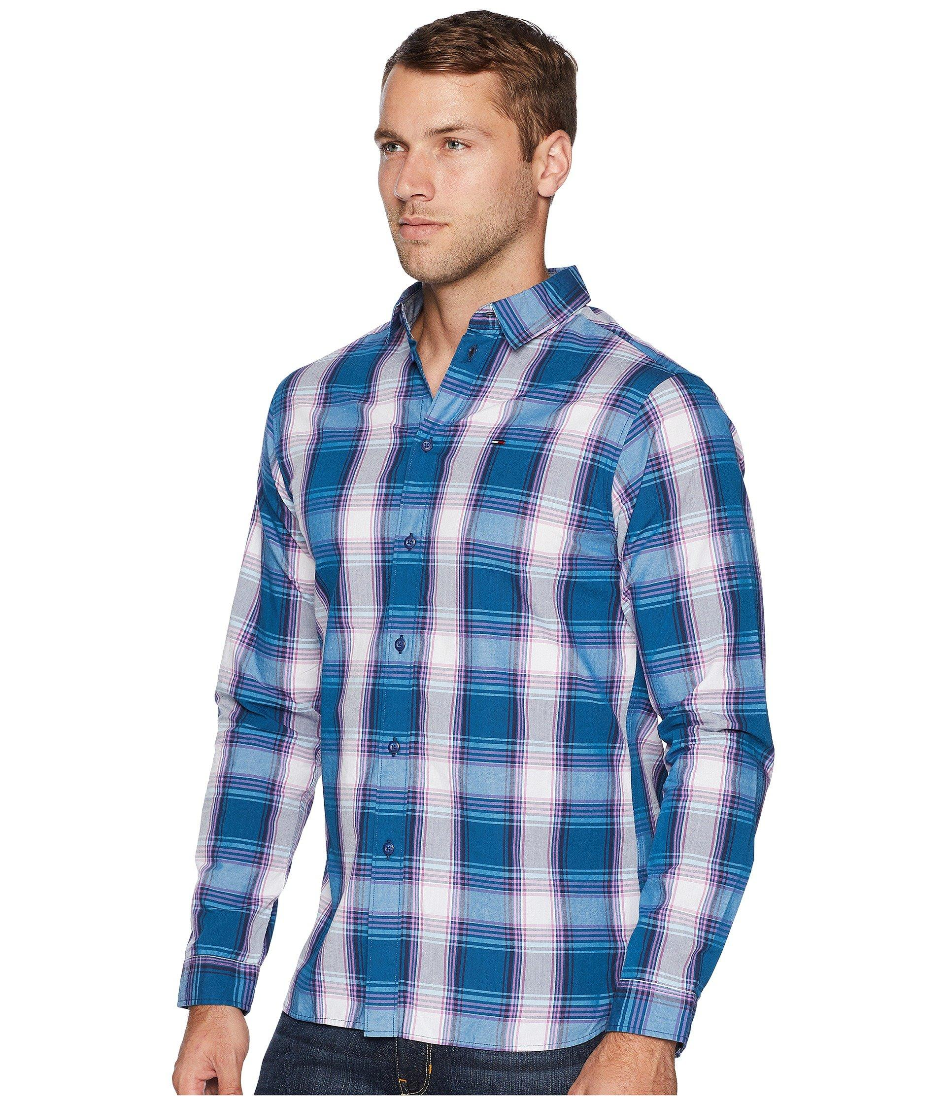 d21691b1a570 Lyst - Tommy Hilfiger Essential Check Shirt in Blue for Men