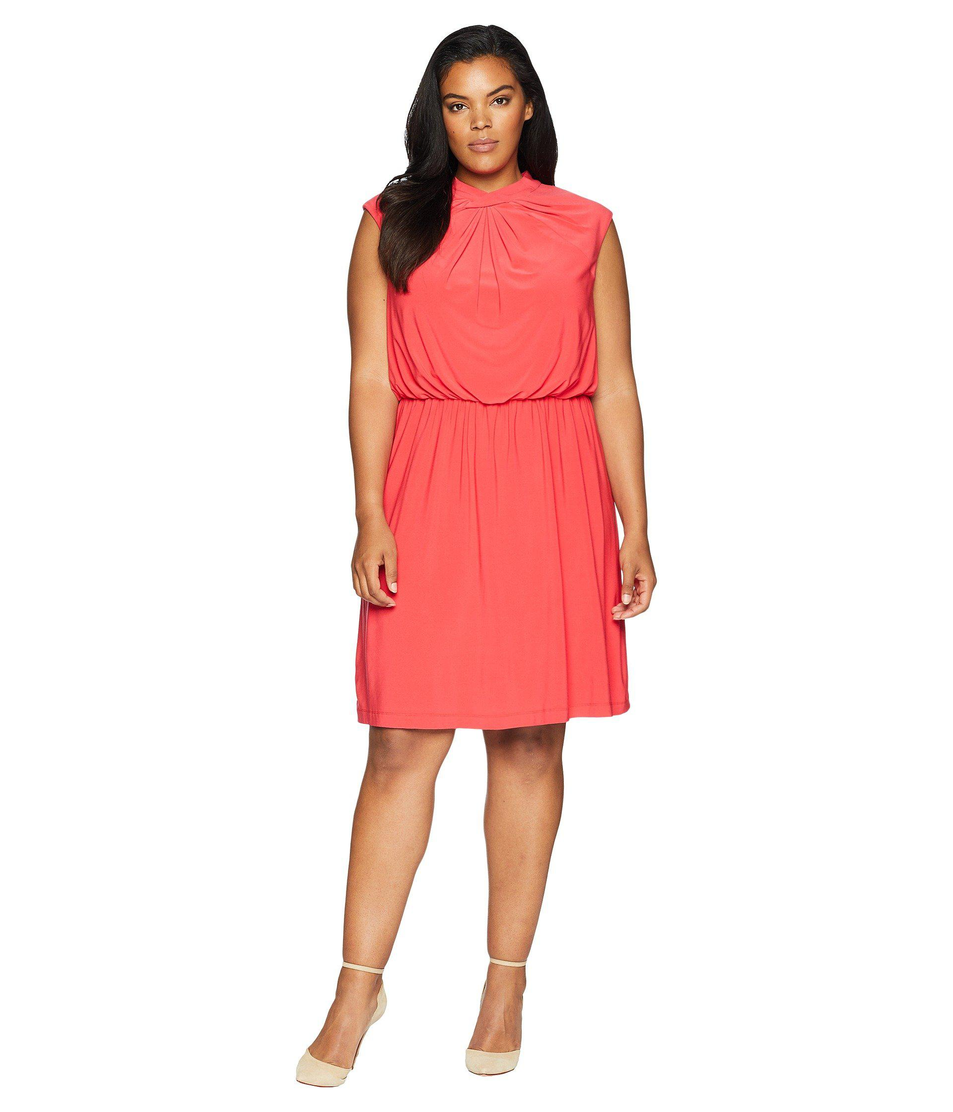 a94606f86c7 Lyst - Adrianna Papell Plus Size Matte Jersey Fit And Flare in Red ...