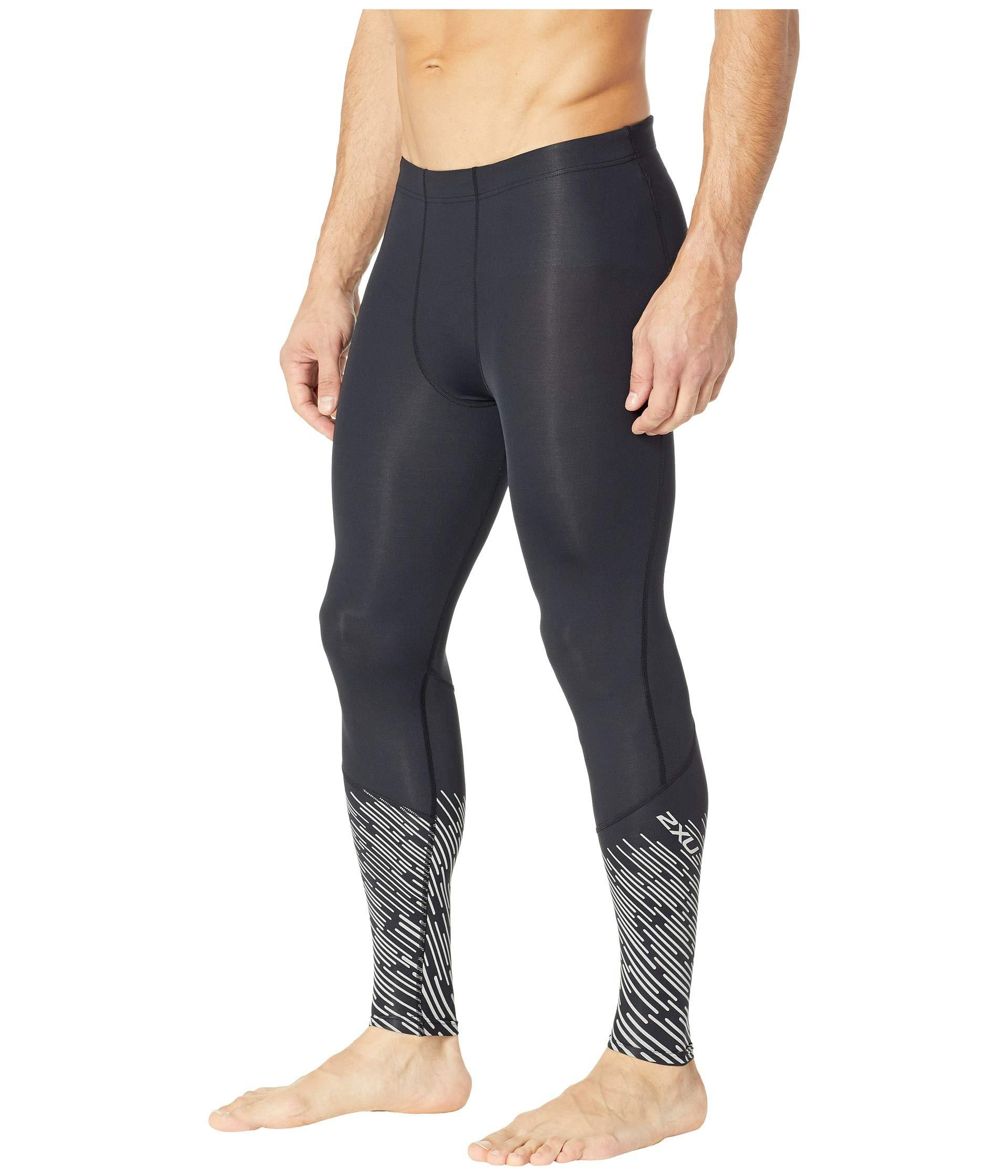 50383a04 Lyst - 2XU Reflect Run Compression Tights in Black for Men