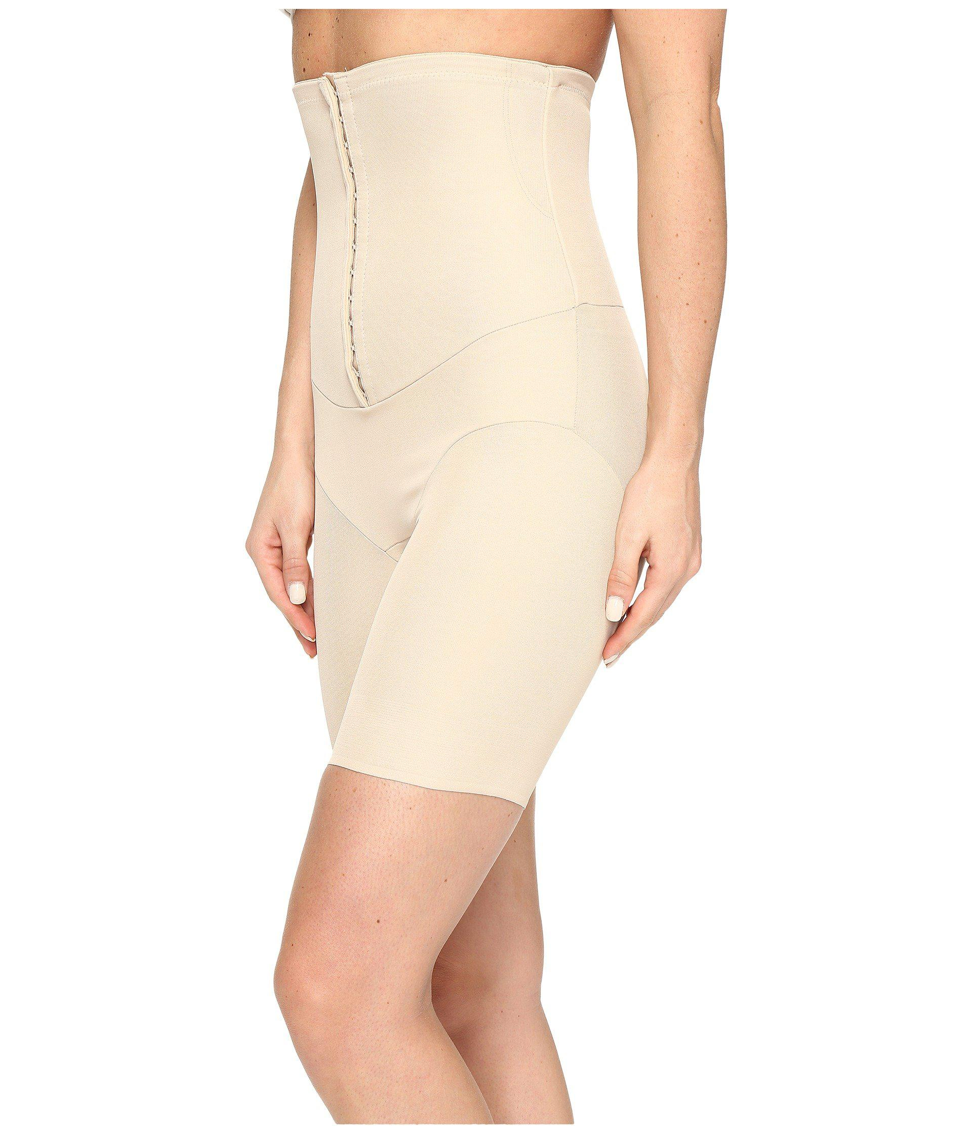 2913241d5c Lyst - Miraclesuit Inches Off Hook   Eye Waist Cinching Thigh Slimmer in  Natural