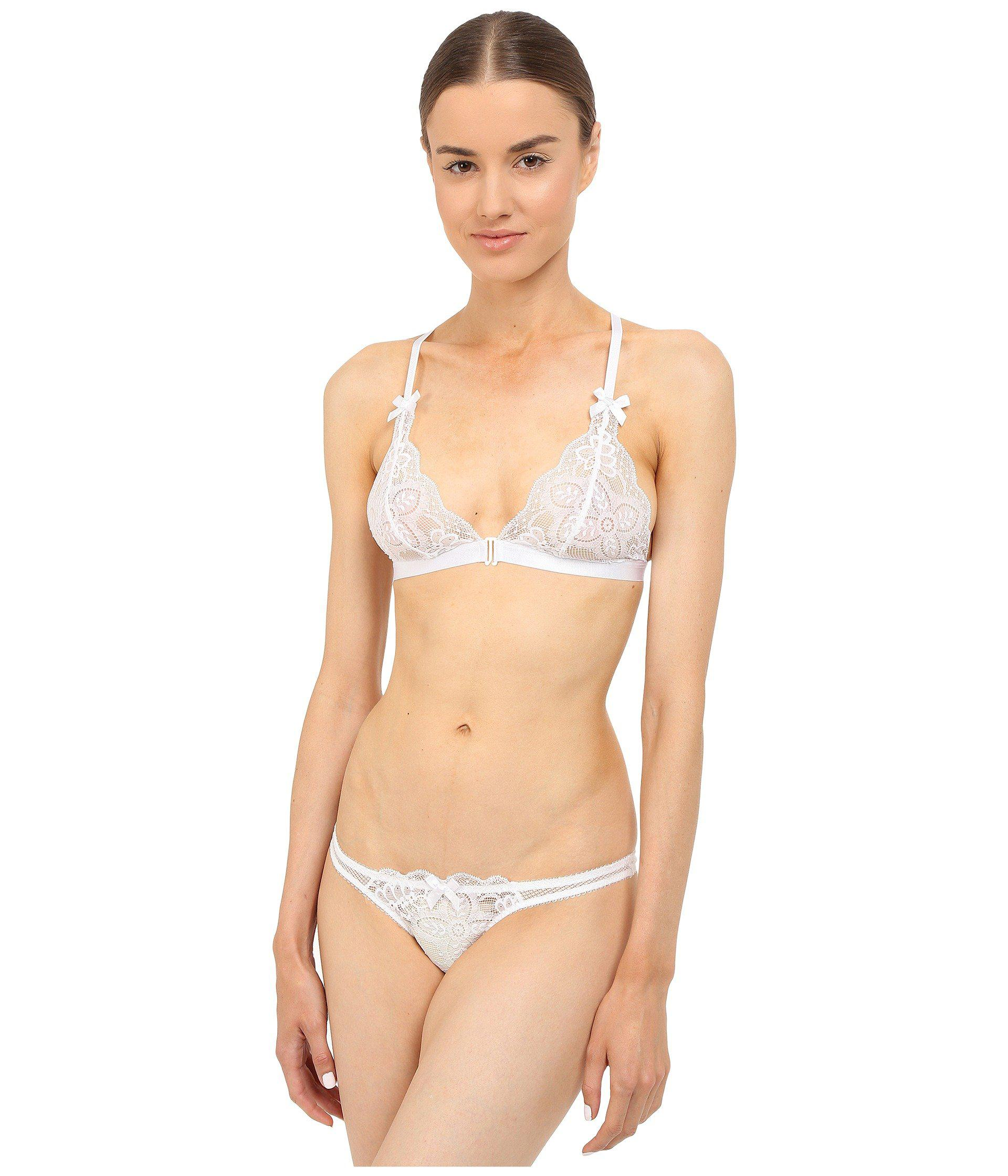 0a3387165c227 Lyst - L Agent by Agent Provocateur Viviana Soft Cup Bra in White
