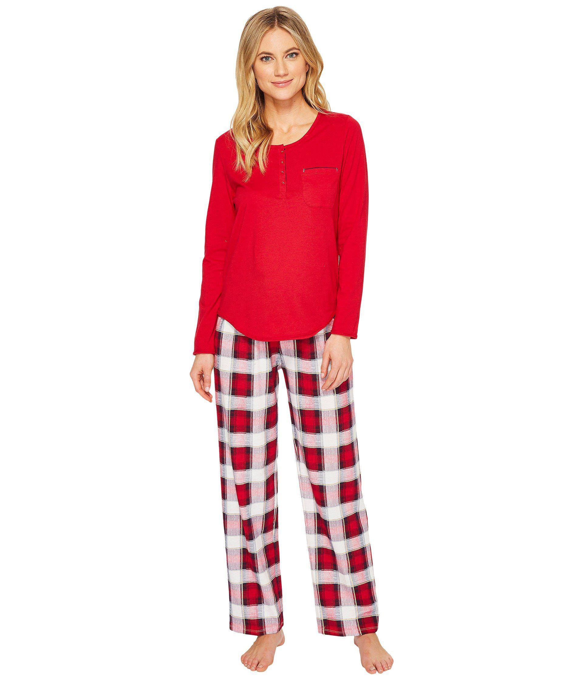 3588d43ac1 Lyst - Jockey Knit Pajama Set in Red
