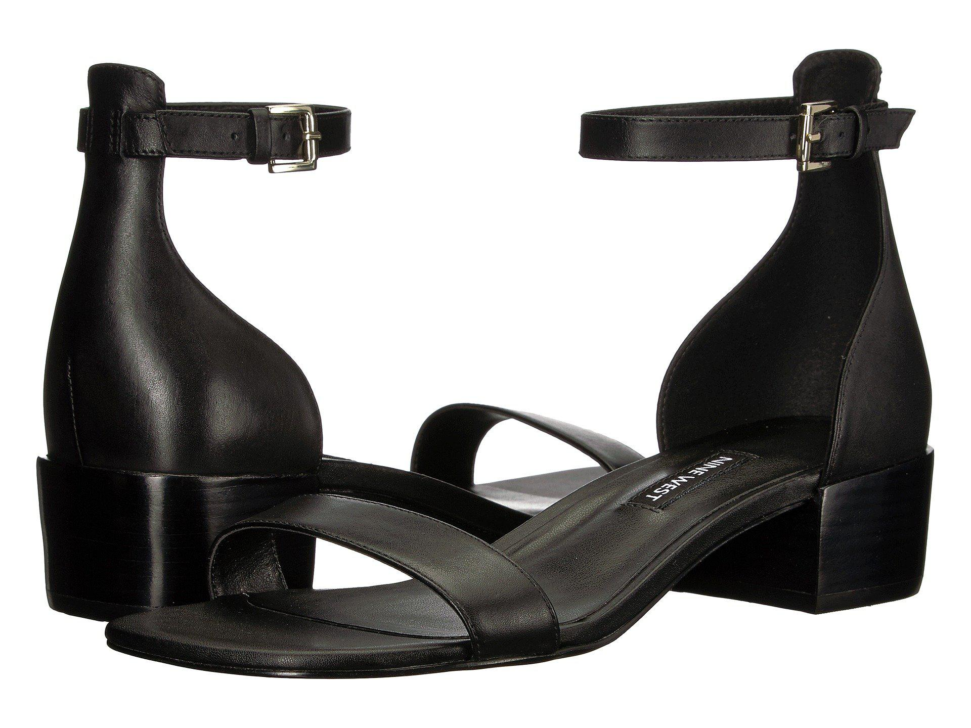 07a425cde0f Lyst - Nine West Xuxa Block Heel Sandal in Black - Save 23%