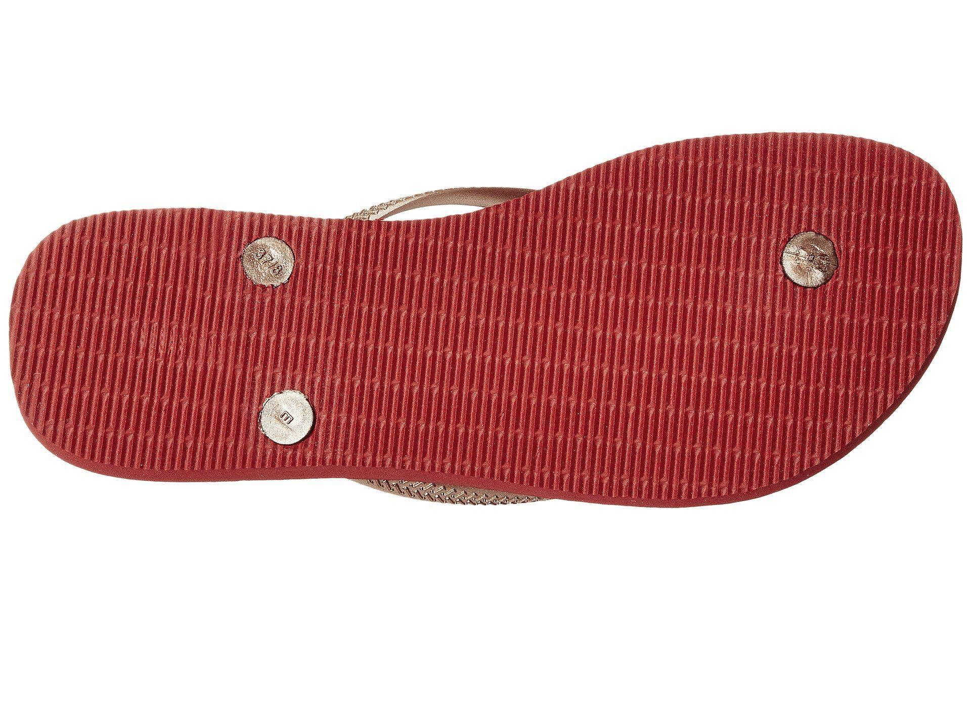 4b3c1add101c2 Lyst - Havaianas Slim Thematic Flip Flops in Red