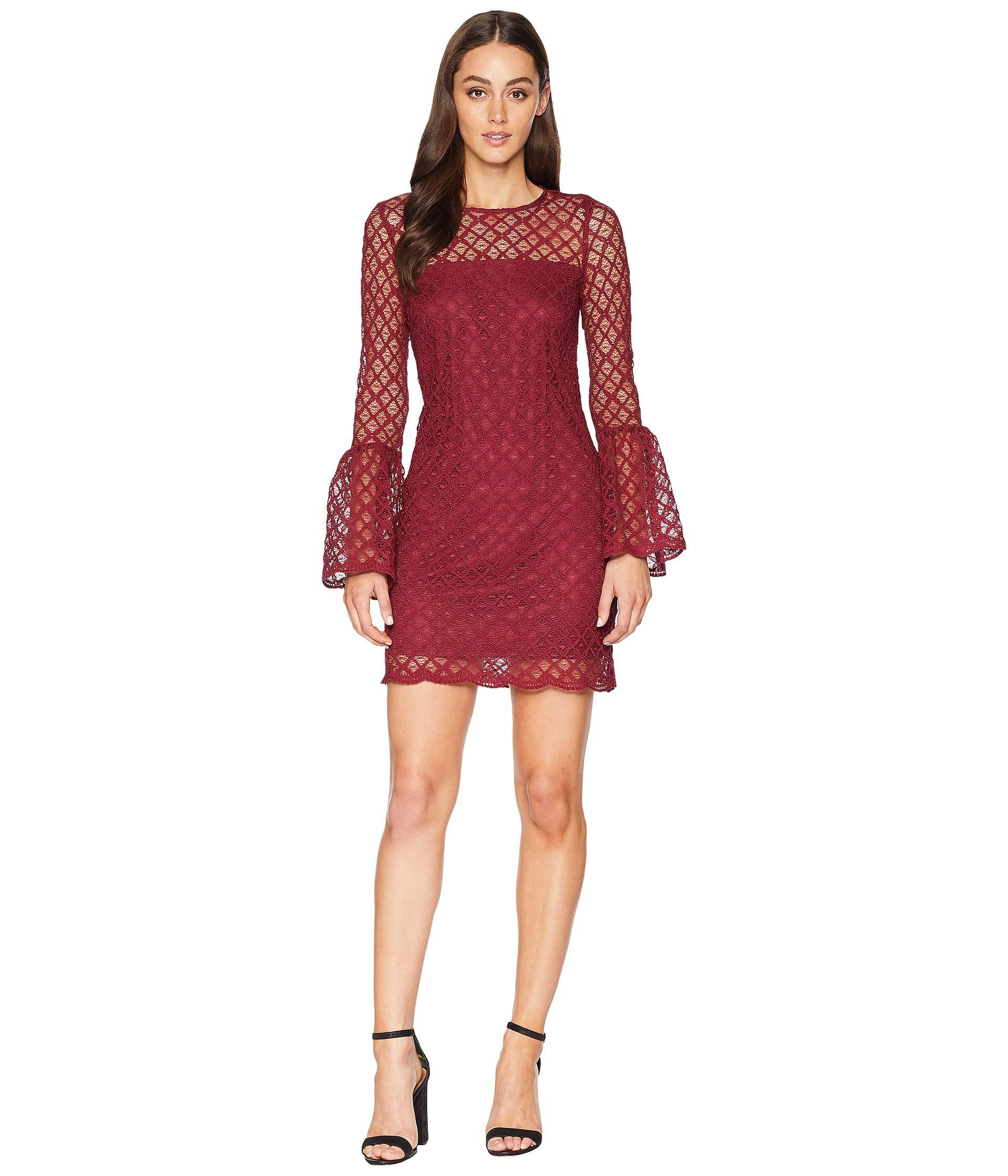 4c4f2ec510 Lyst - Laundry by Shelli Segal Lace Cocktail Dress With Bell Sleeves ...
