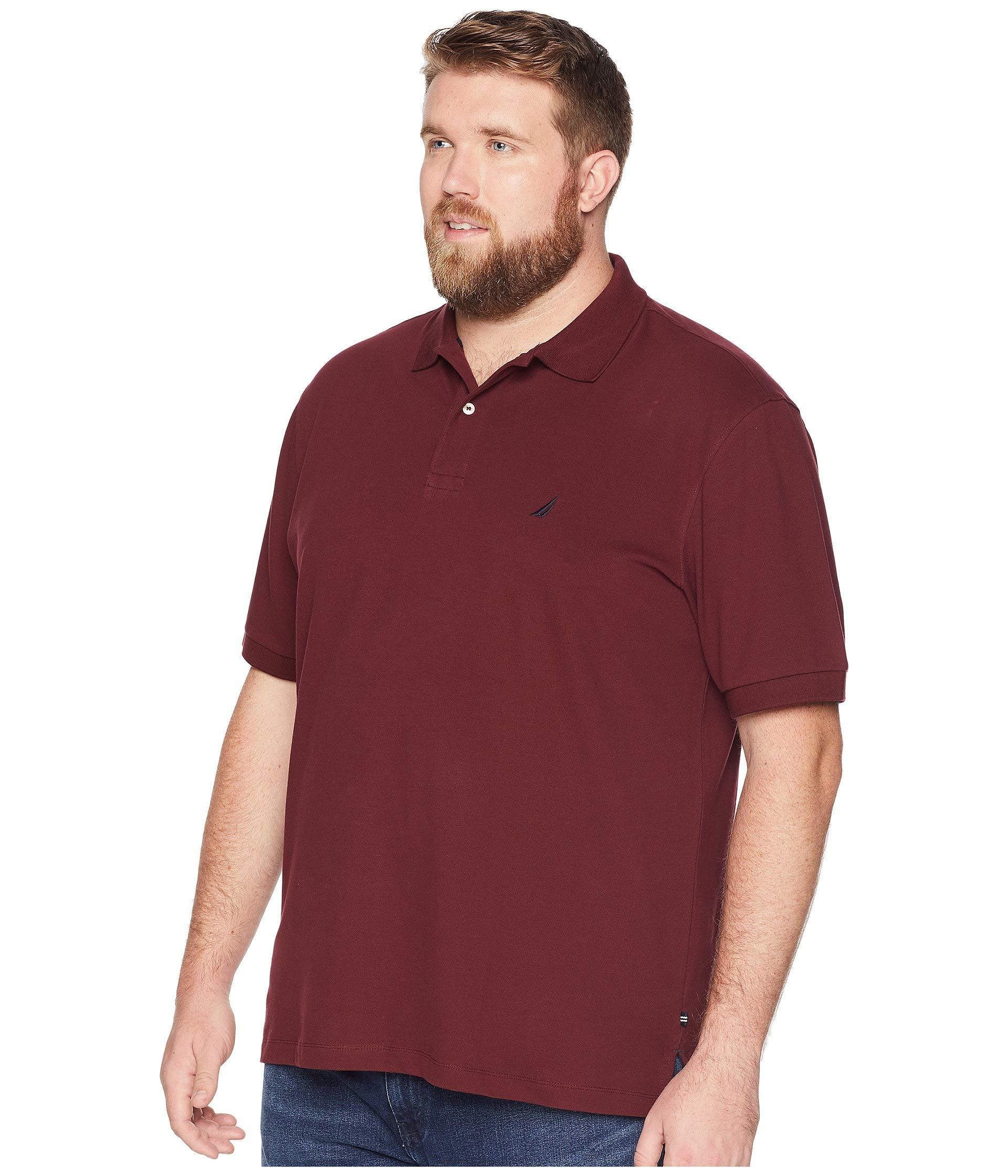 4144c50b Lyst - Nautica Big And Tall Short Sleeve Solid Deck Polo Shirt in Red for  Men - Save 40%