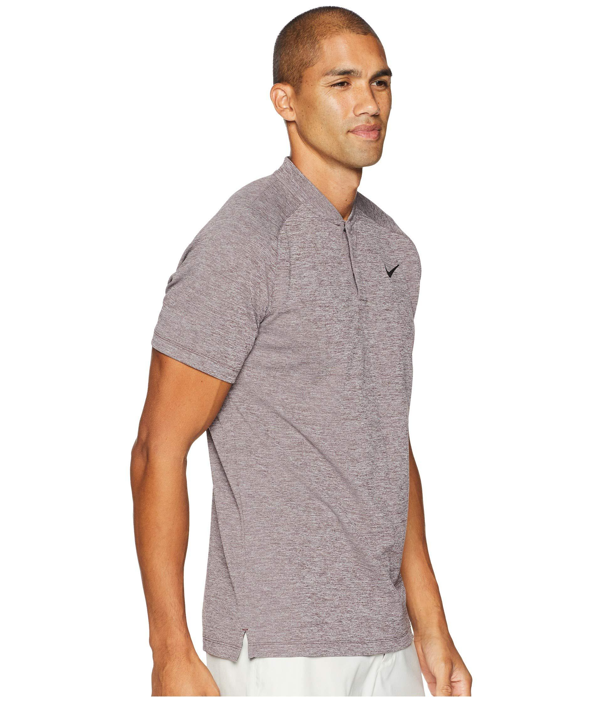 c813b2a6 Lyst - Nike Aeroreact Momentum Polo Slim in Gray for Men