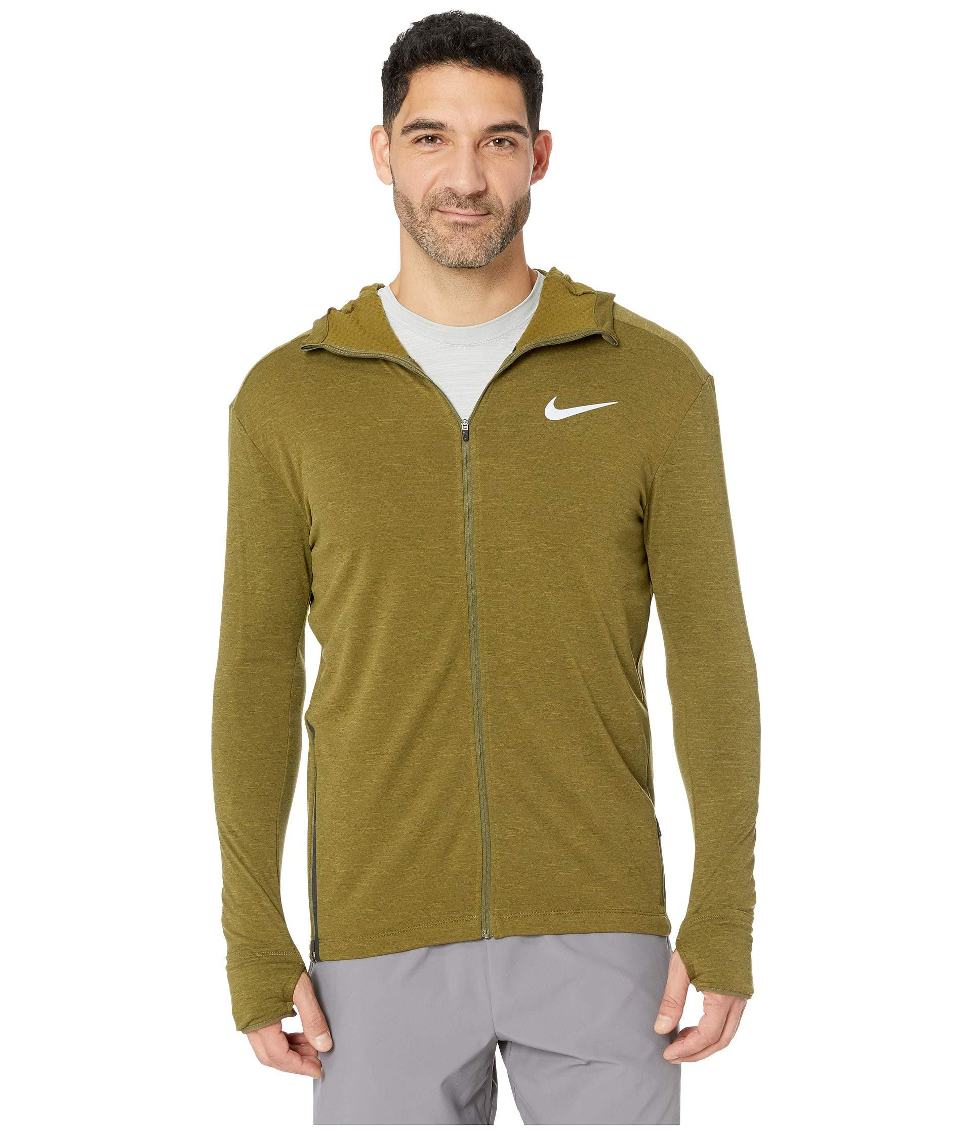 7ba9d25a22ce62 Lyst - Nike Sphere Element Hoodie Full Zip 2.0 in Green for Men ...