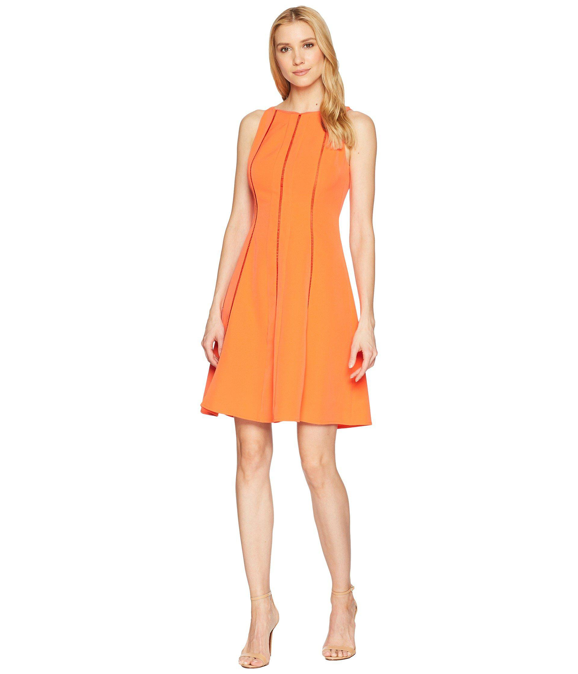 34c84f412e683 Lyst - Maggy London Dream Crepe Fit   Flare Dress in Orange - Save 49%