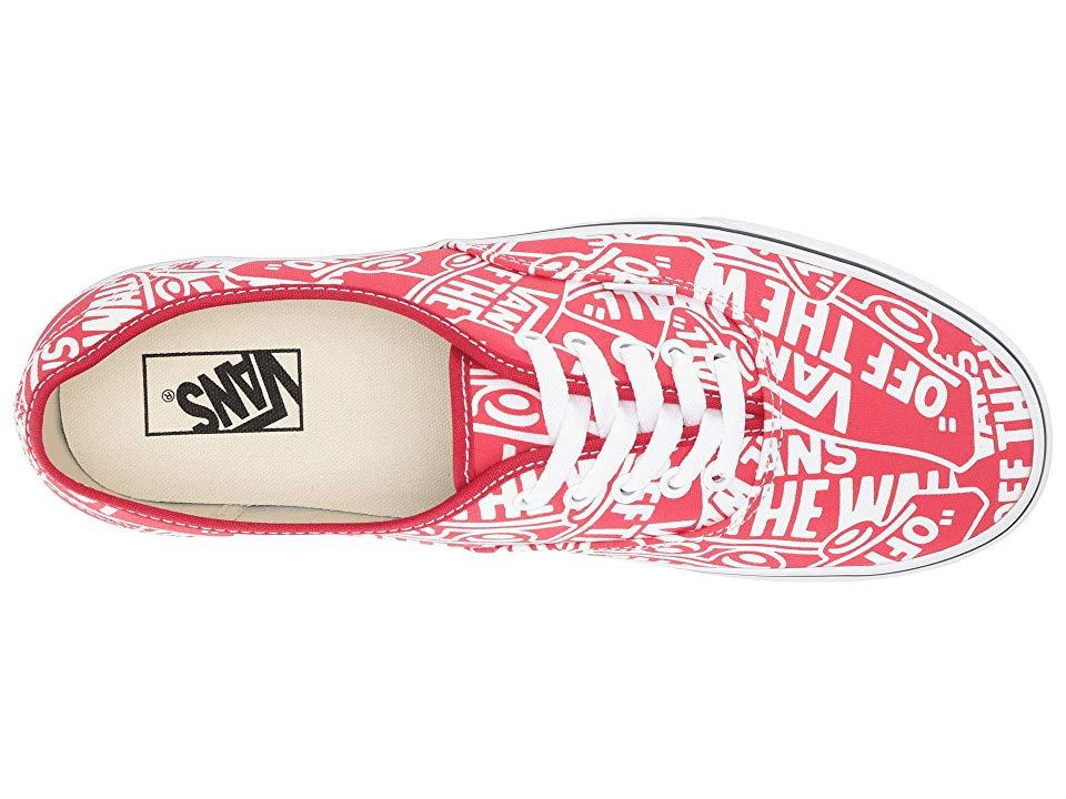 f758d5422429 Vans Authentictm ((otw Repeat) Red/true White) Skate Shoes in Red ...
