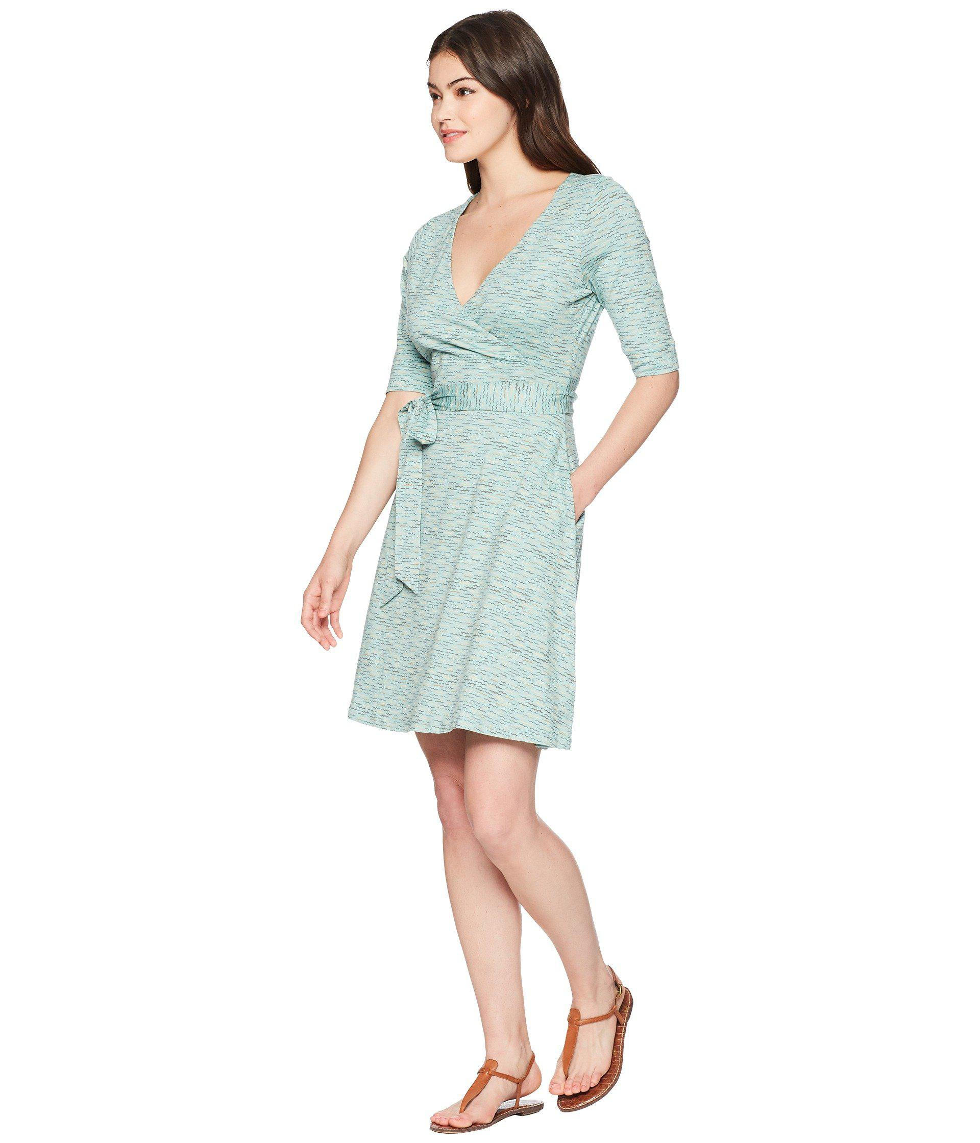 a7031f56cc Toad&Co Cue Wrap Cafe Dress in Blue - Lyst