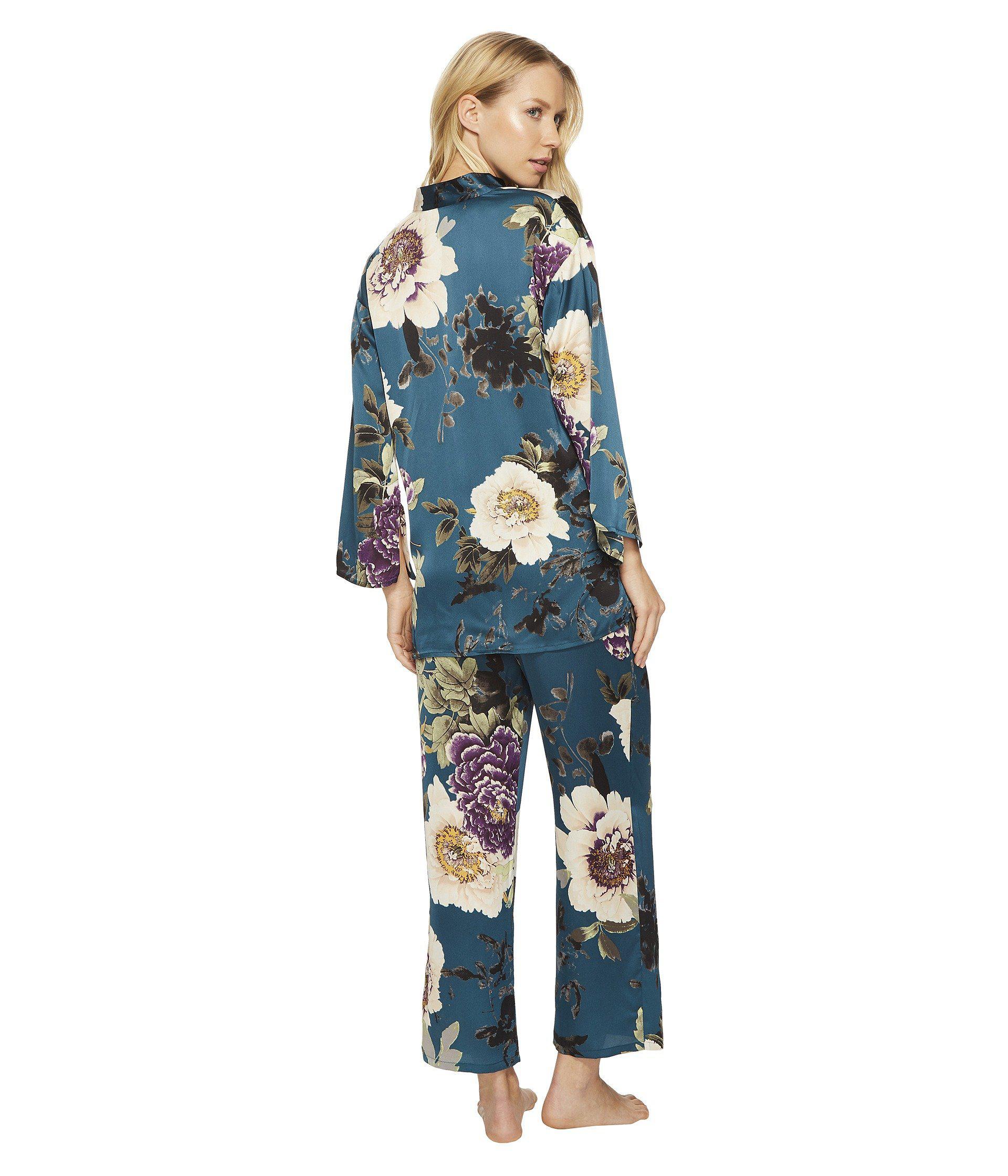 1afa757b75 Lyst - N By Natori Floral Dynasty Pj Set in Blue