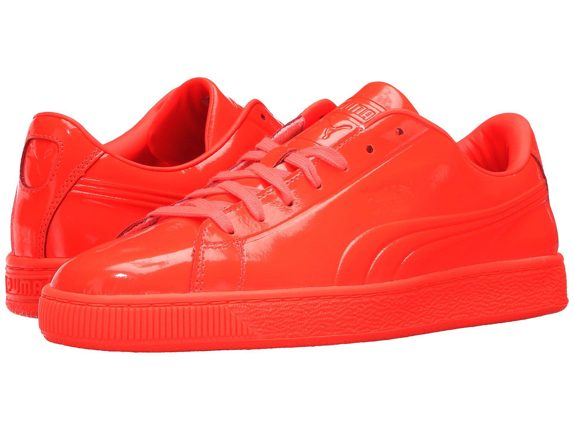 4cfc1b667b Lyst - PUMA Basket Classic Patent Emboss in Red for Men