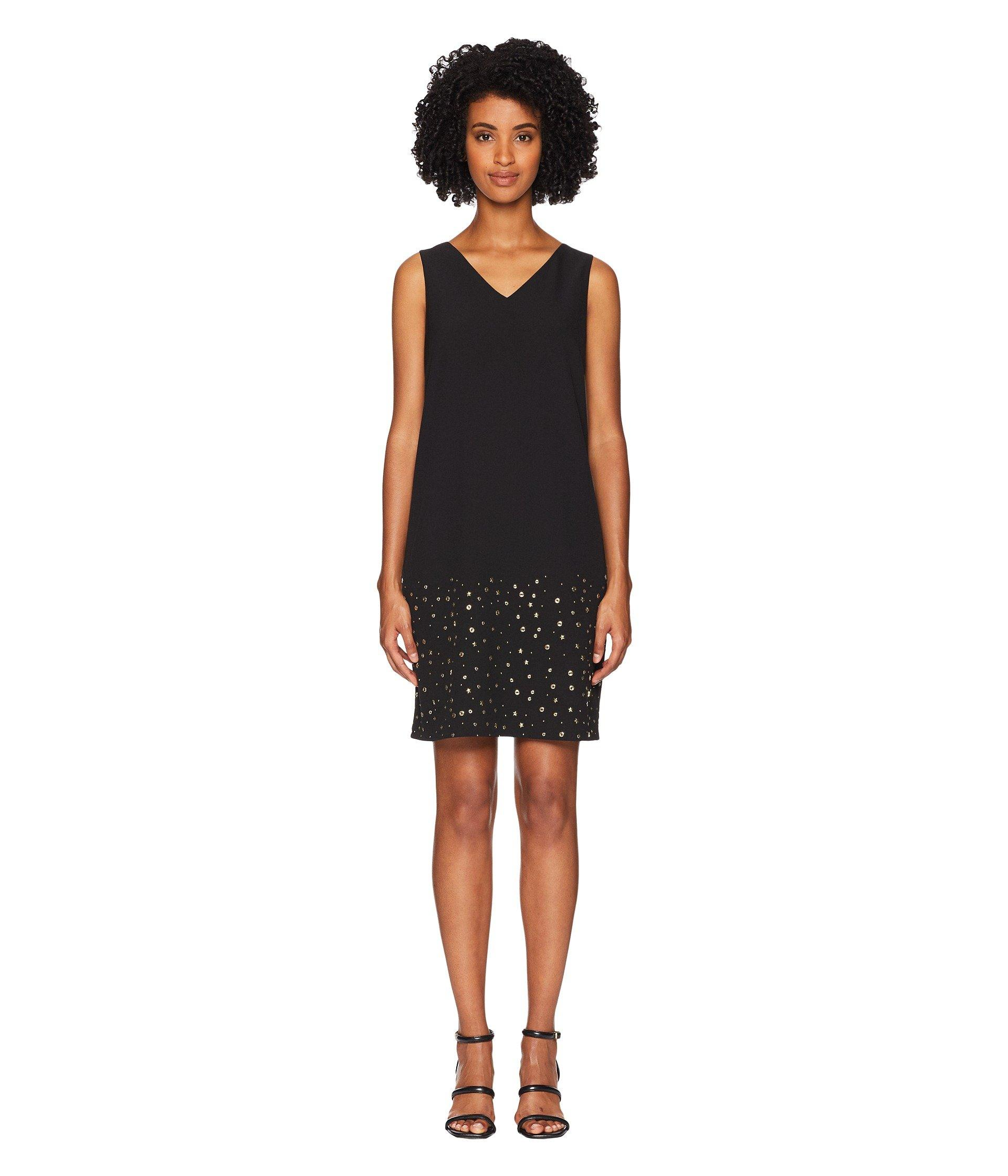 9b479ba5647 Lyst - Boutique Moschino Cady Dress With Star Detail in Black - Save 40%