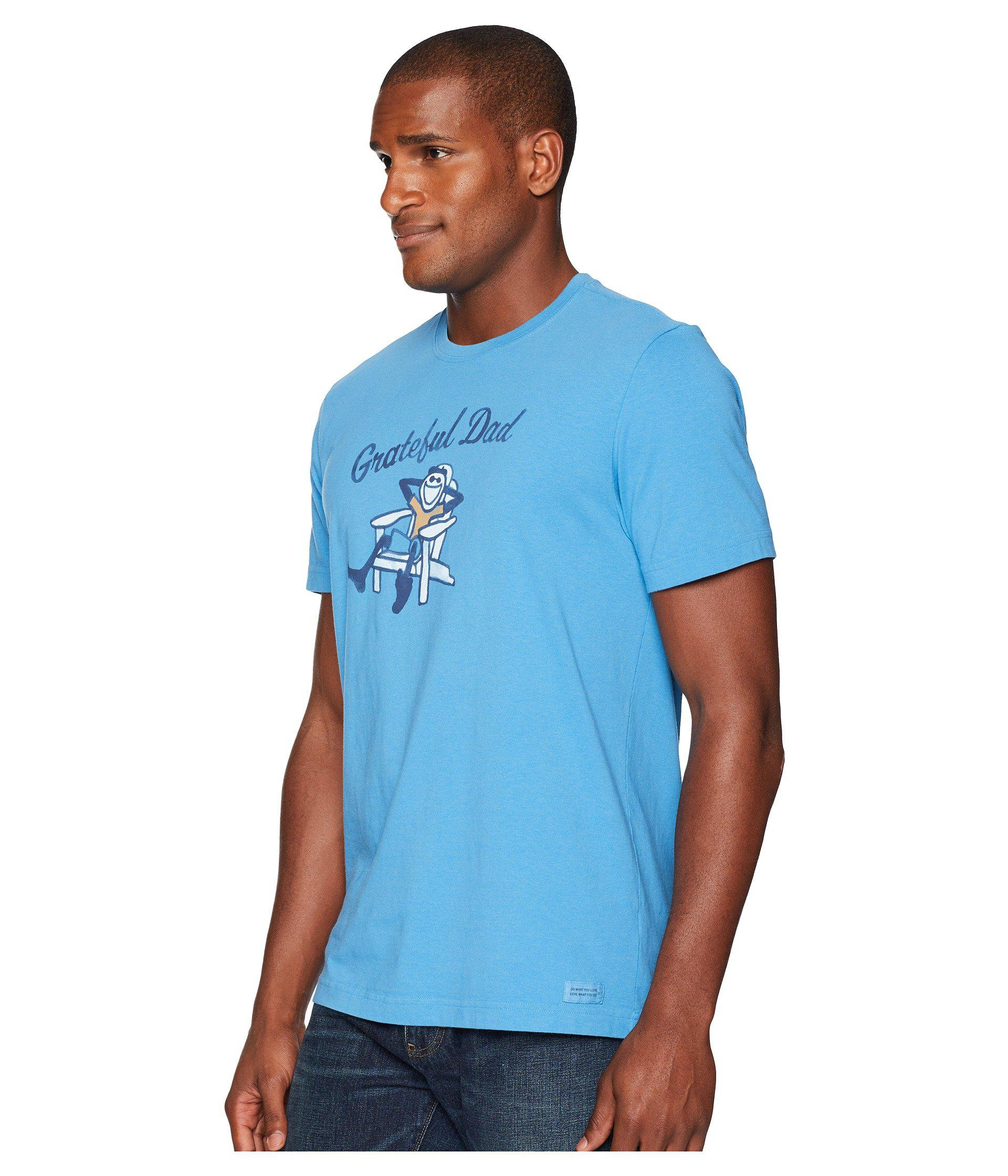 90b8701d Lyst - Life Is Good. Adirondack Grateful Dad Crusher Tee in Blue for Men