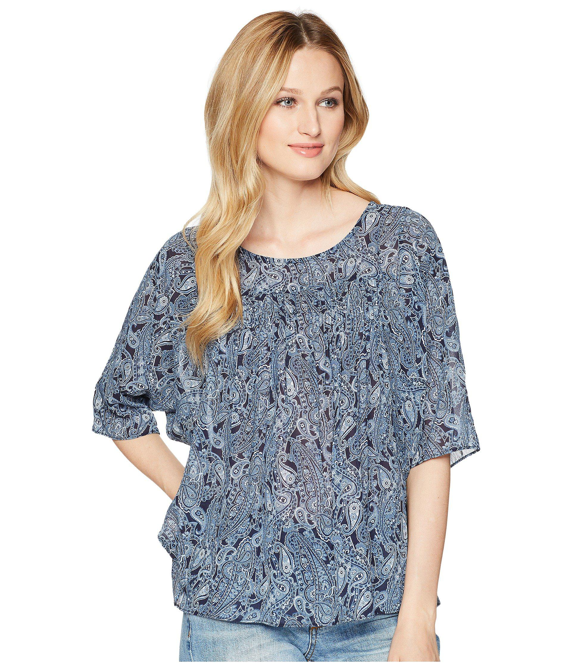 f9e3975675004 Lyst - MICHAEL Michael Kors Paisley Paradise Top in Blue - Save 57%