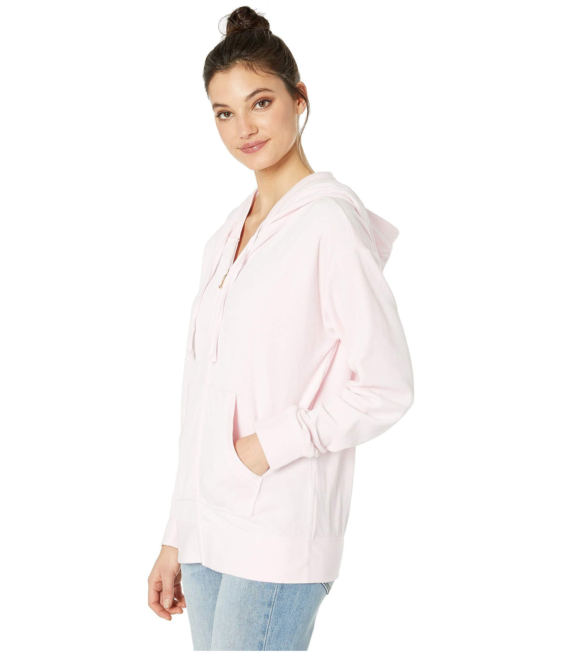 02608e8d6118 Lyst - Juicy Couture Beachwood Velour Jacket in Pink