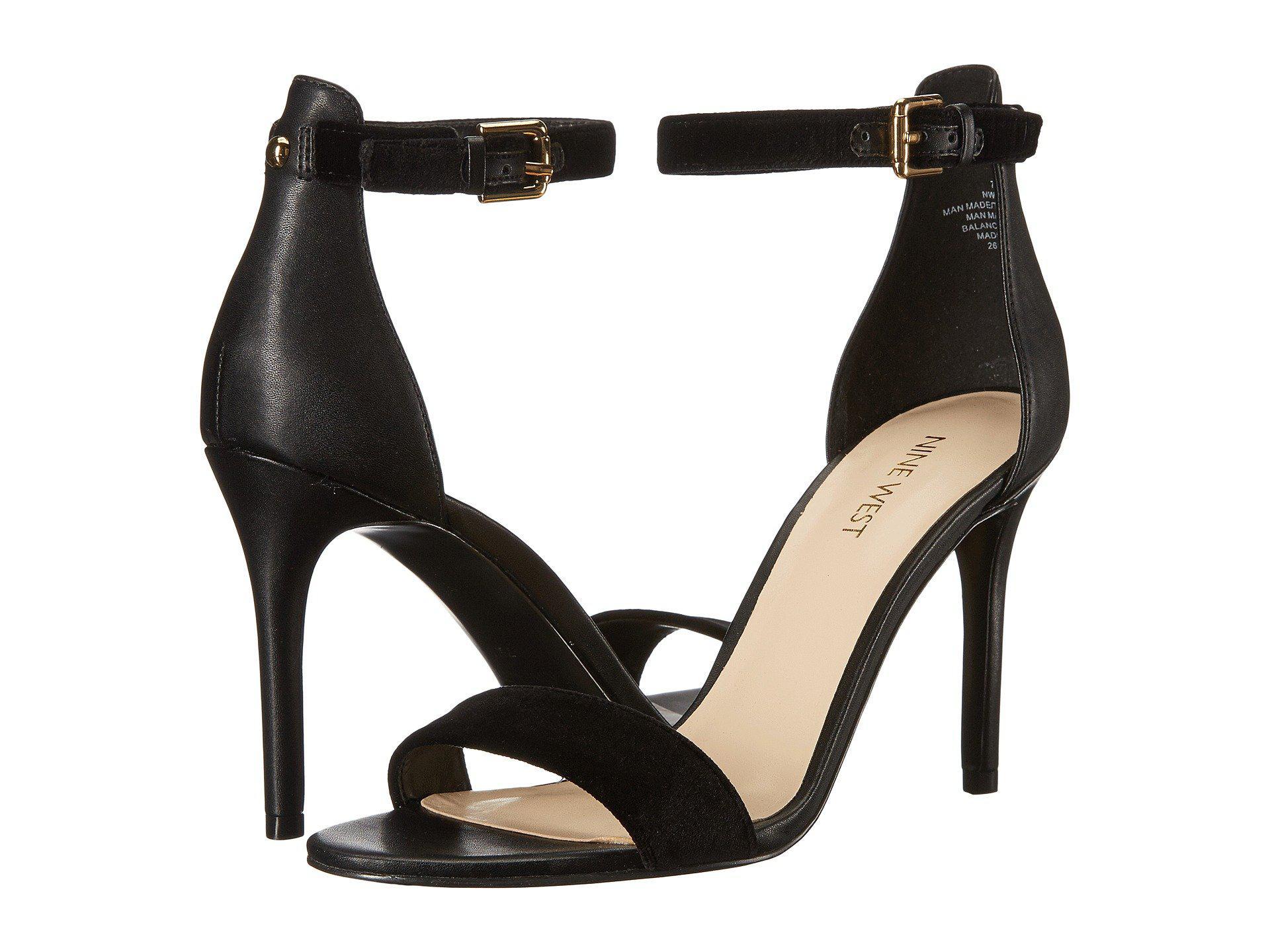 728ed58ded Nine West Mana Stiletto Heel Sandal in Black - Lyst