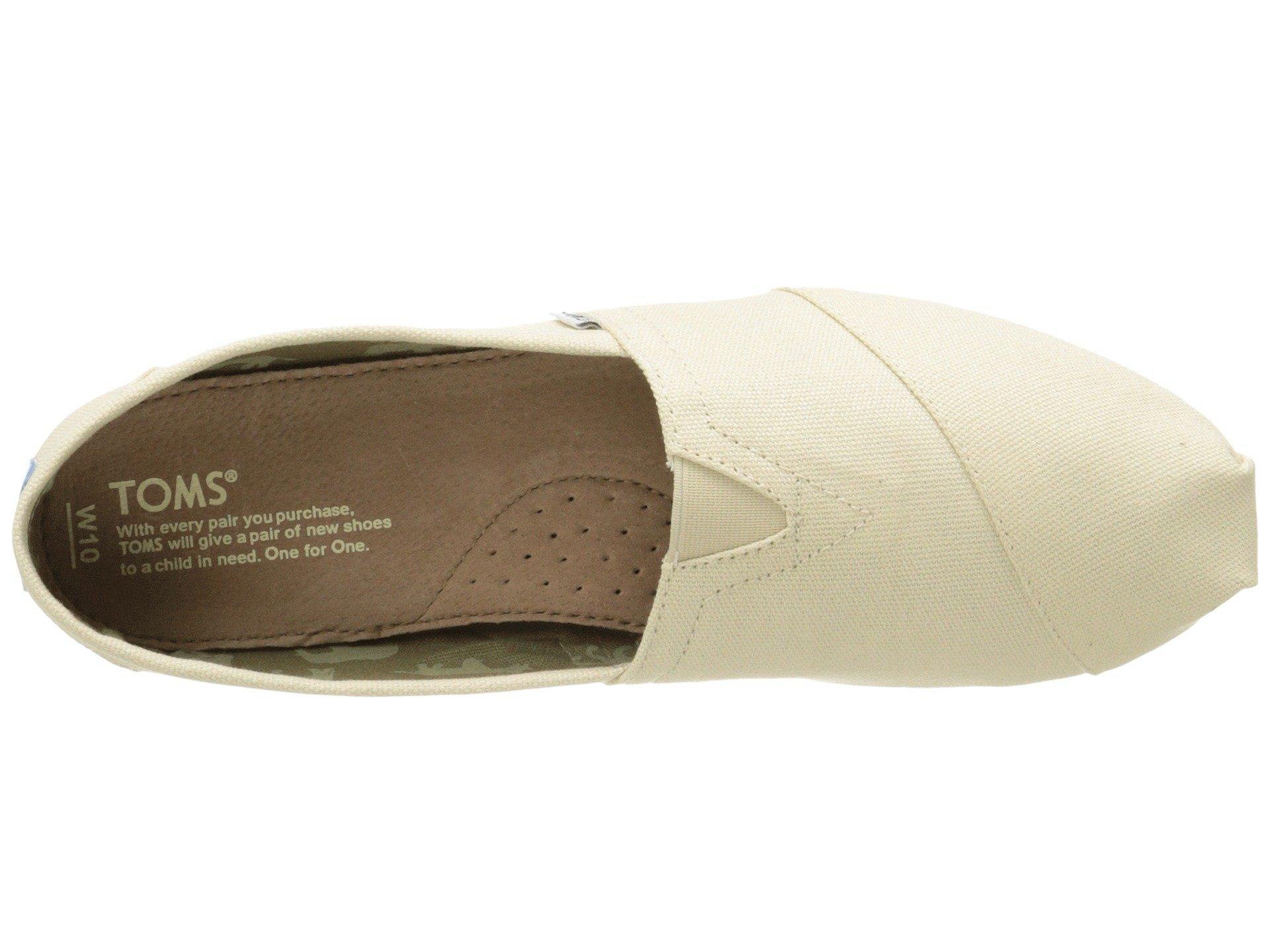 a3c033828a7 Lyst - TOMS Classics in Natural - Save 72%