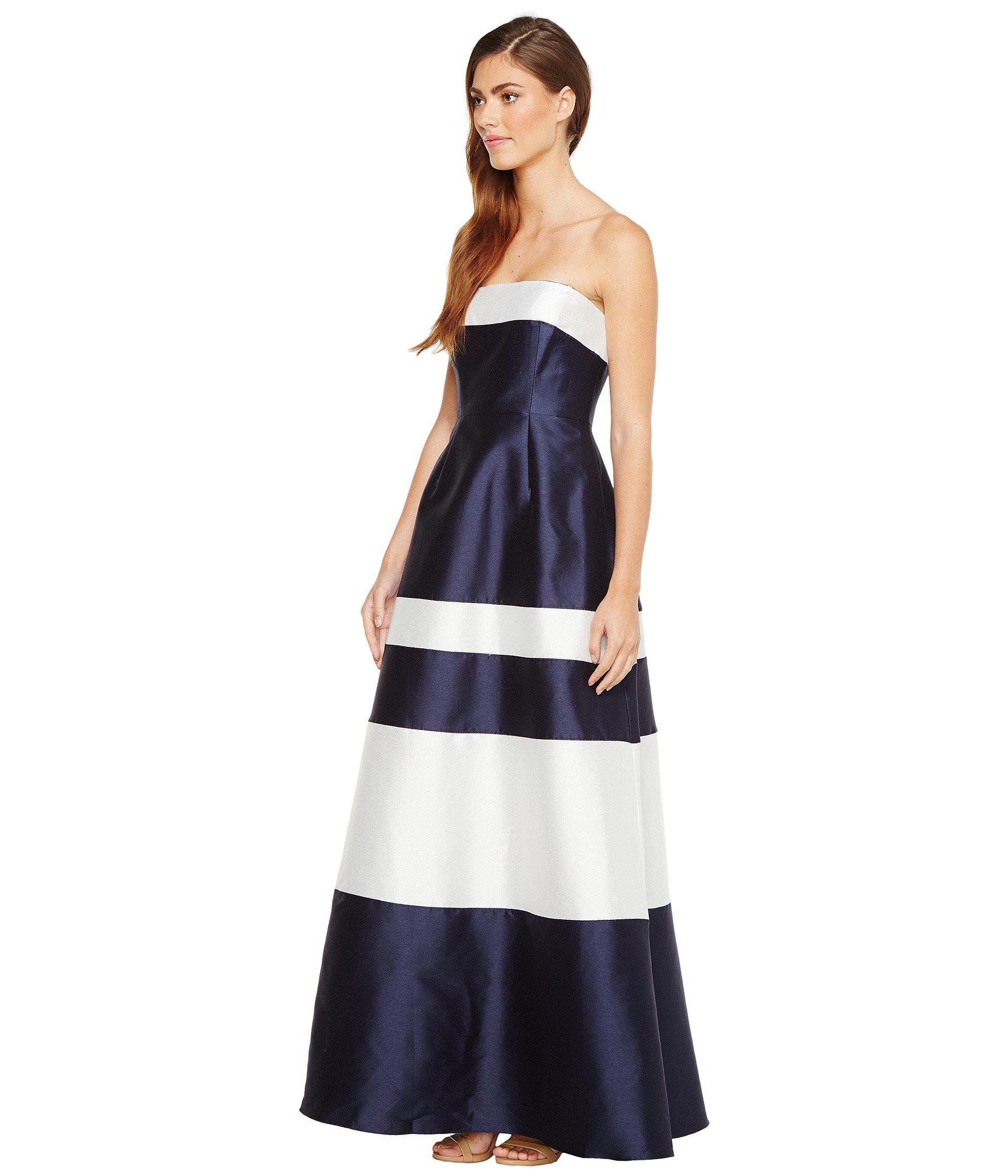 Lyst - Adrianna Papell Iridescent Faille Ball Gown in Blue - Save ...