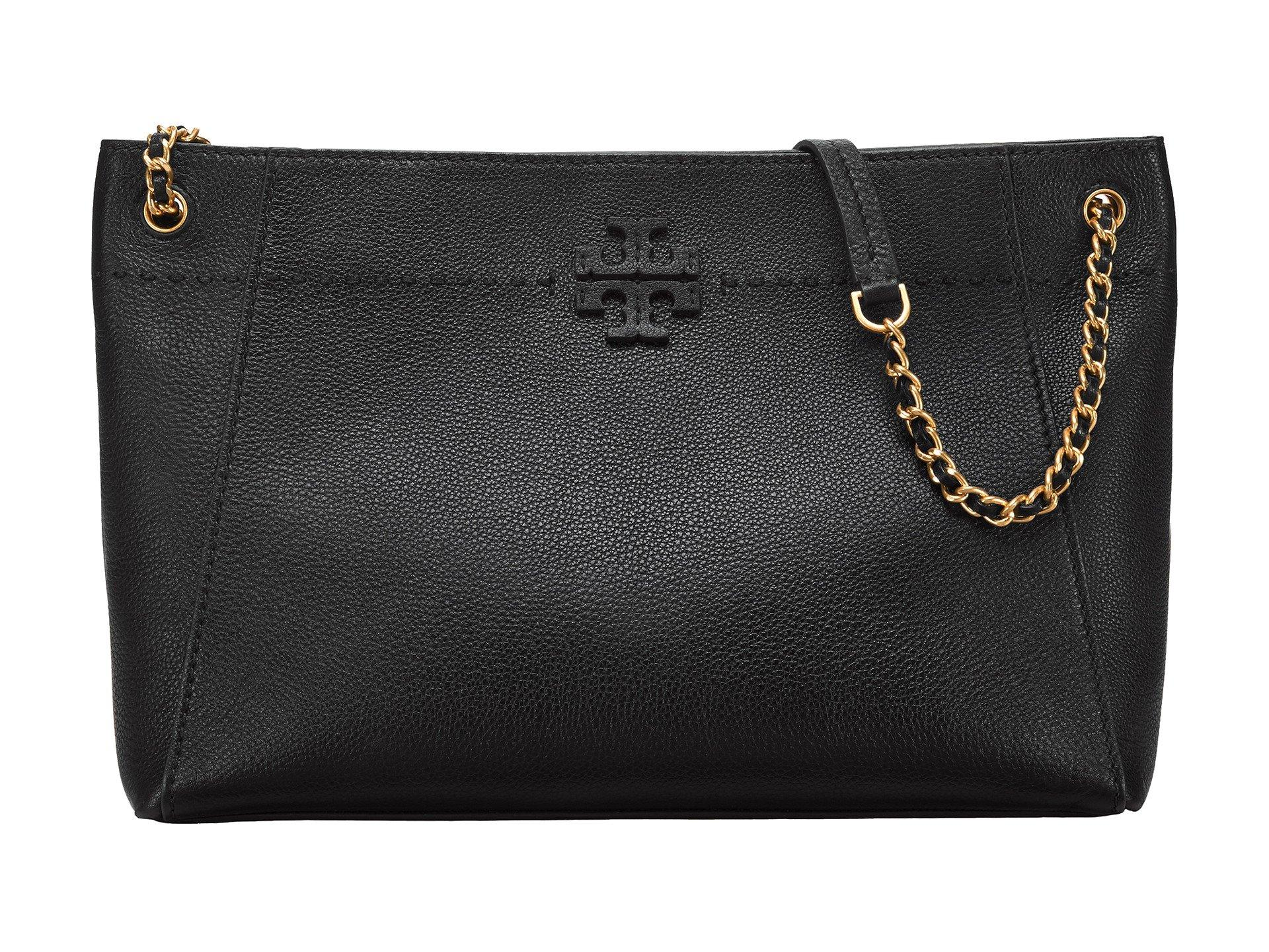 dcf2b75072e8 Lyst - Tory Burch Mcgraw Chain-shoulder Slouchy Tote in Black - Save 48%