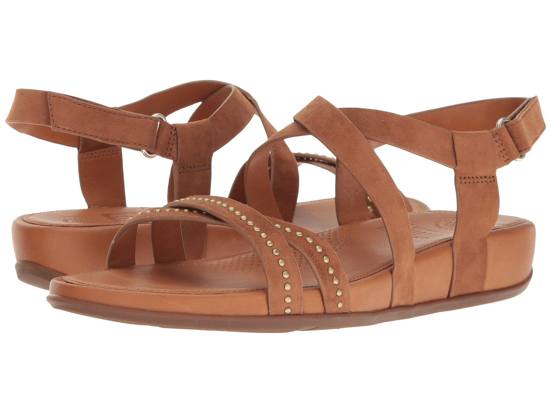 ddf0b470ca196 Lyst - Fitflop Lumy Crisscross Sandals W  Studs in Brown - Save 21%