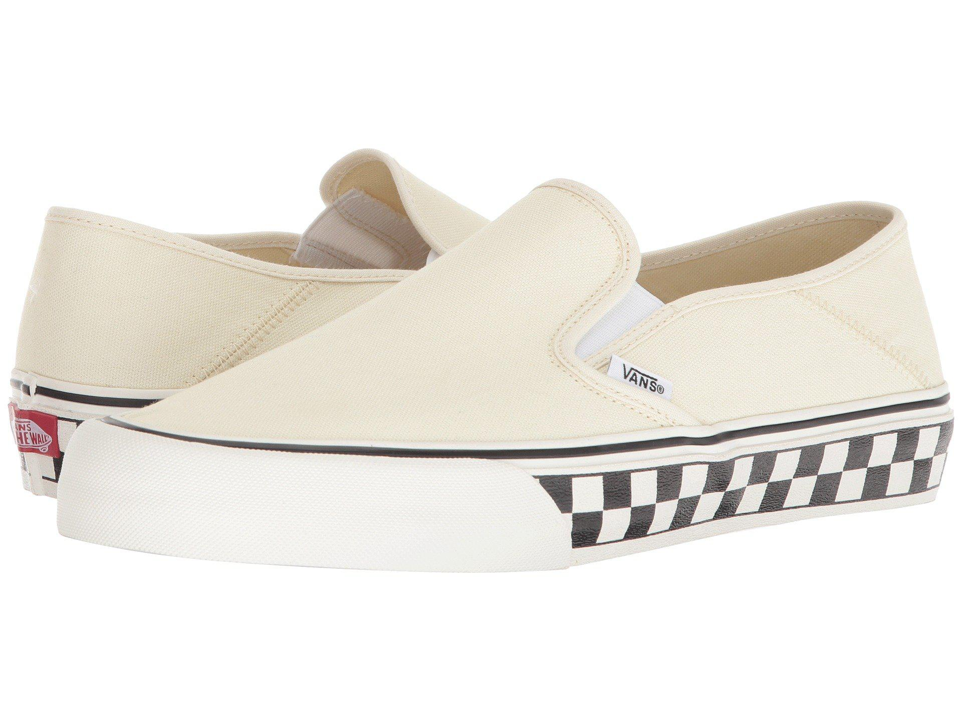 00b9f5a7cba2 Lyst - Vans Slip-on Sf in White
