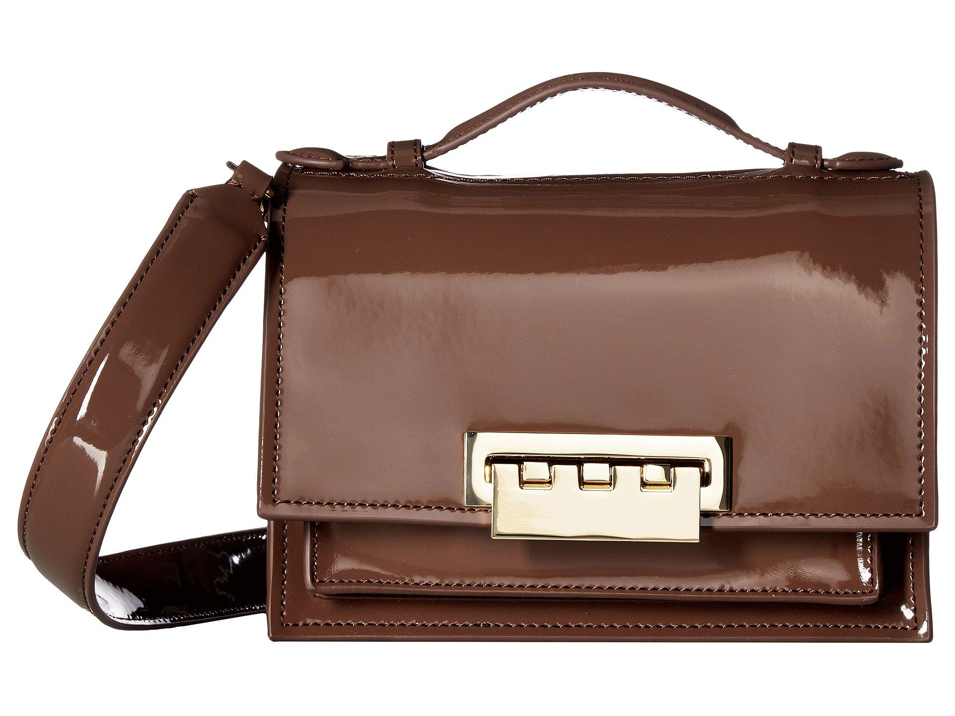ff0ee0c35a8 Lyst - Zac Zac Posen Earthette Accordian Shoulder Bag in Brown