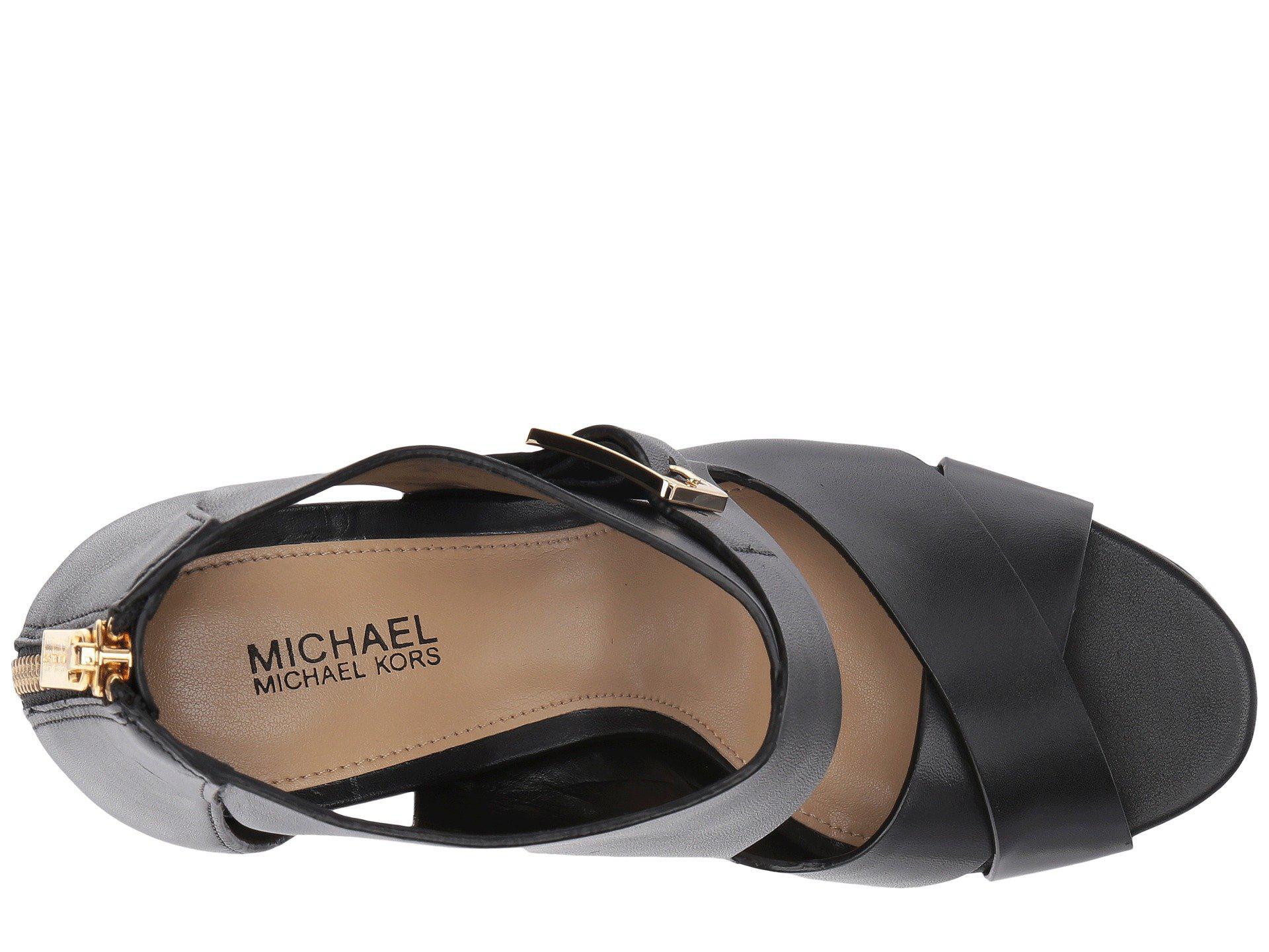 753c8ab5702a Lyst - MICHAEL Michael Kors Kimber Platform in Black