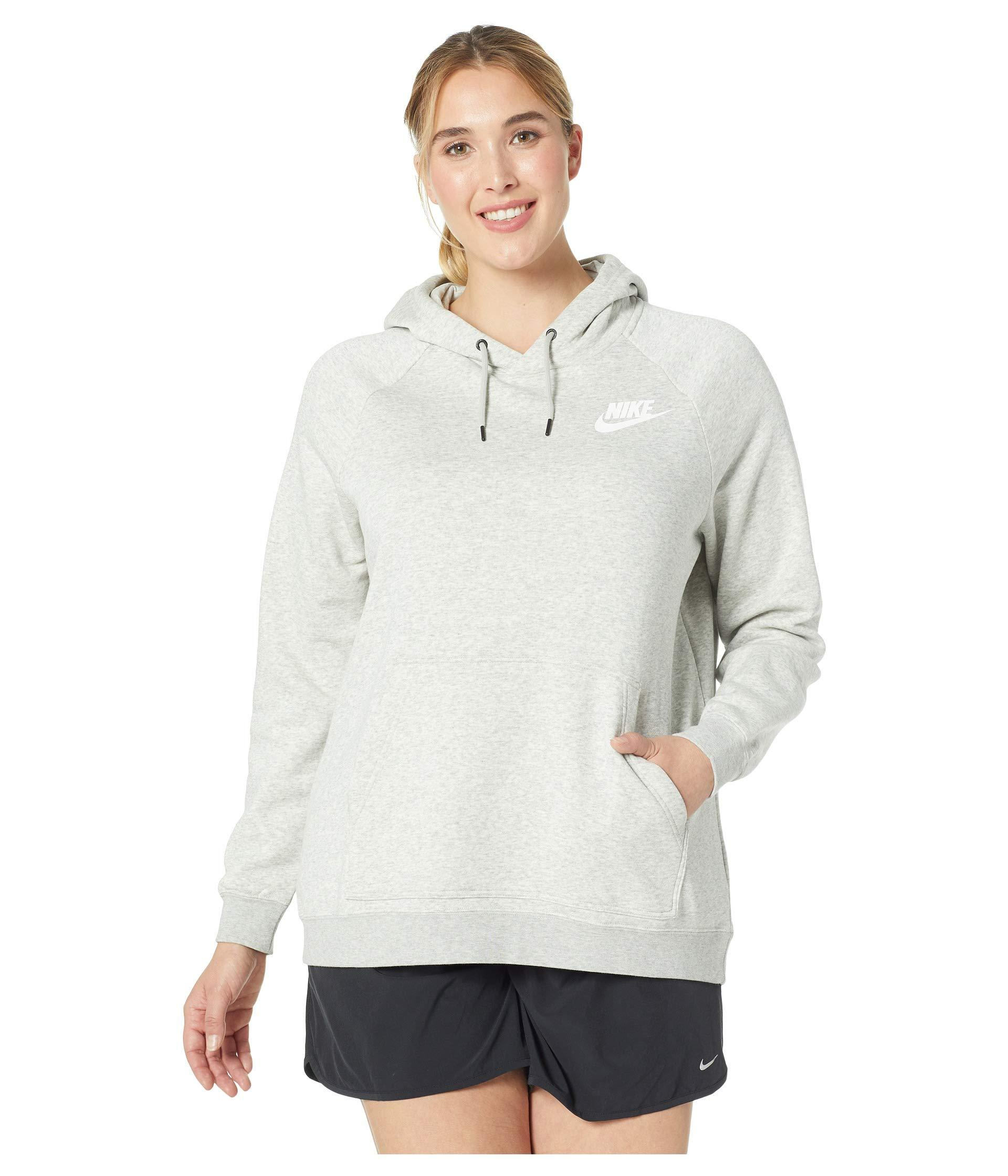 615216621b08 Lyst - Nike Plus Size Rally Extended Hoodie in Gray - Save 22%