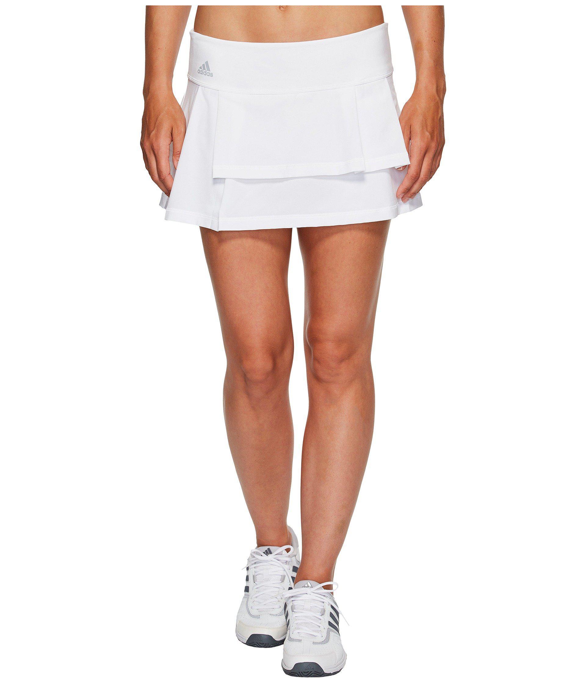 80b3a1b415 adidas Advantage Layered Skirt in White - Lyst