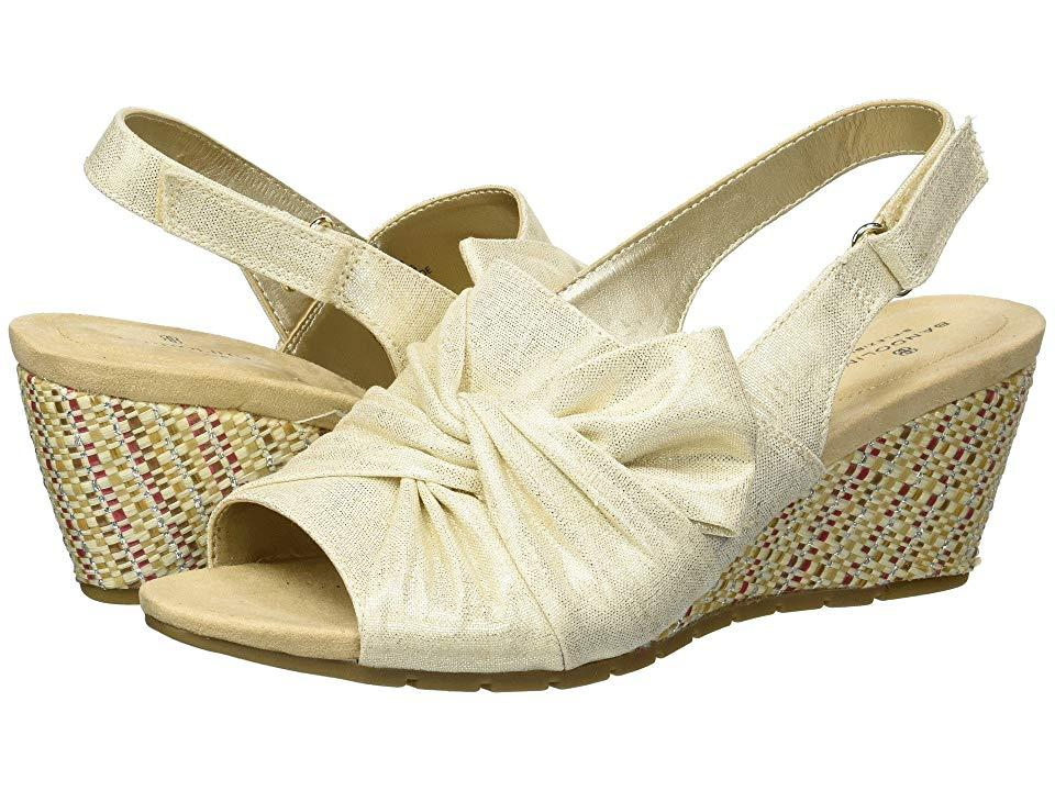 30ba0bcef9e Women's White Gayla (gold Metallic Coated Linen) Shoes