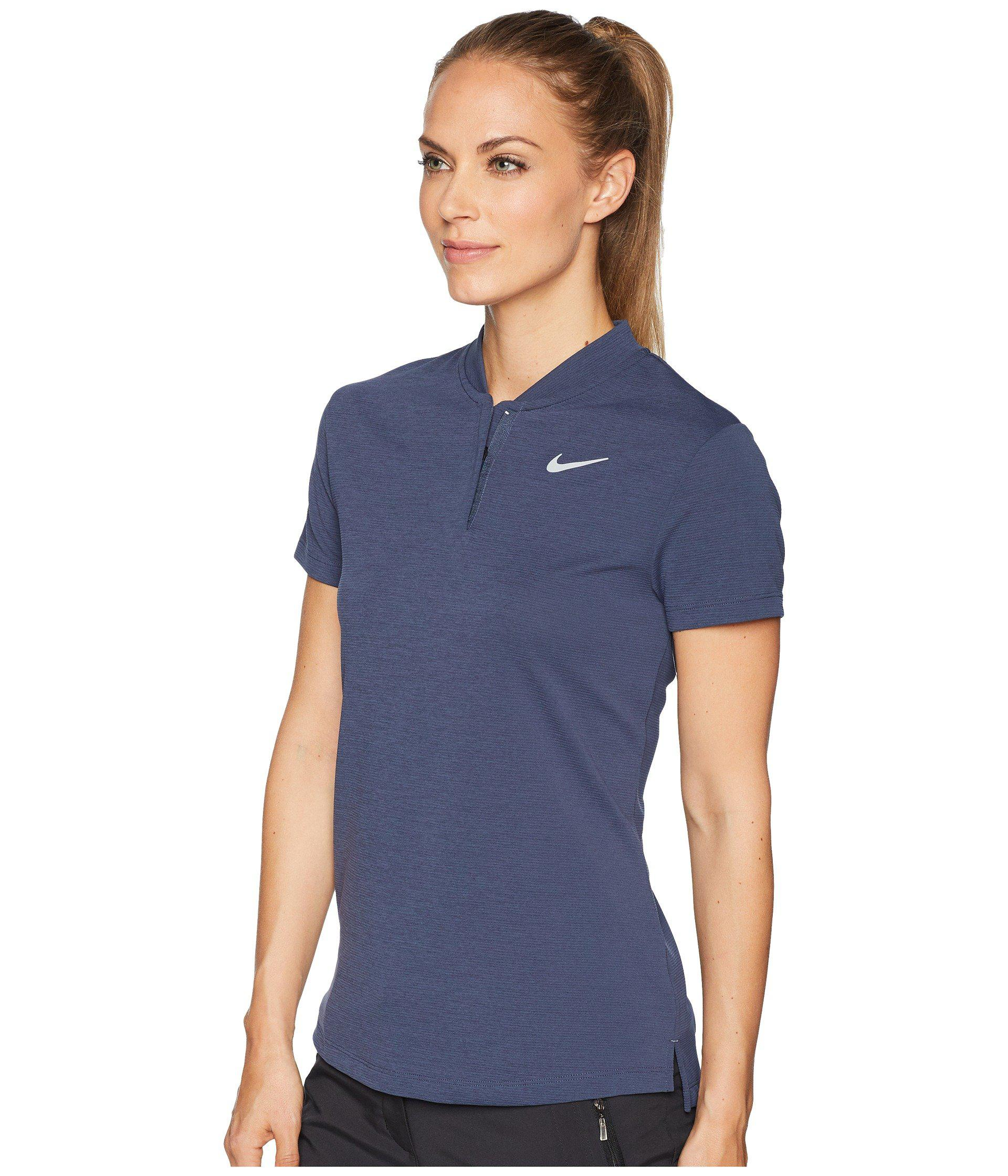 f9c90c78 Nike - Blue Aeroreact Polo Short Sleeve - Lyst. View fullscreen
