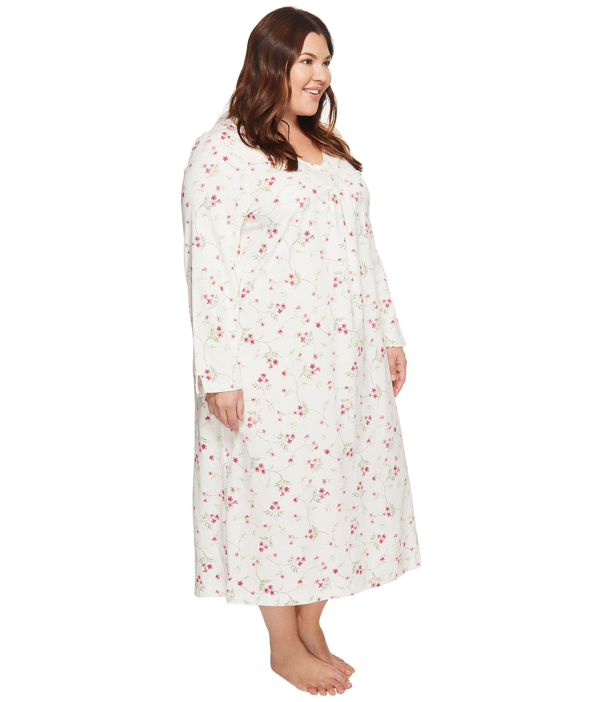 Lyst - Carole Hochman Plus Size Soft Jersey Floral Long Gown
