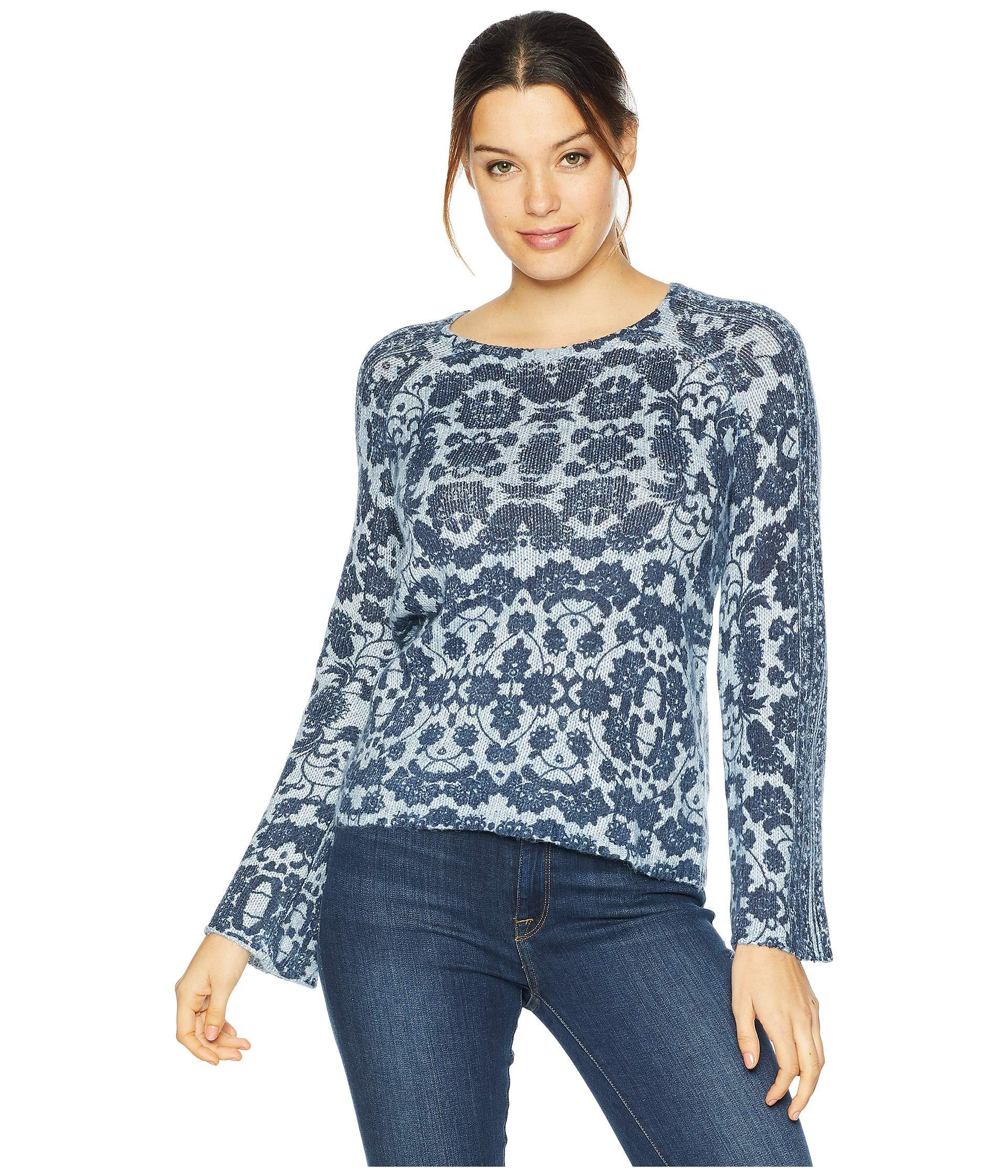 53f824cefc2 Lucky Brand Damask Pullover Sweater in Blue - Save 23% - Lyst
