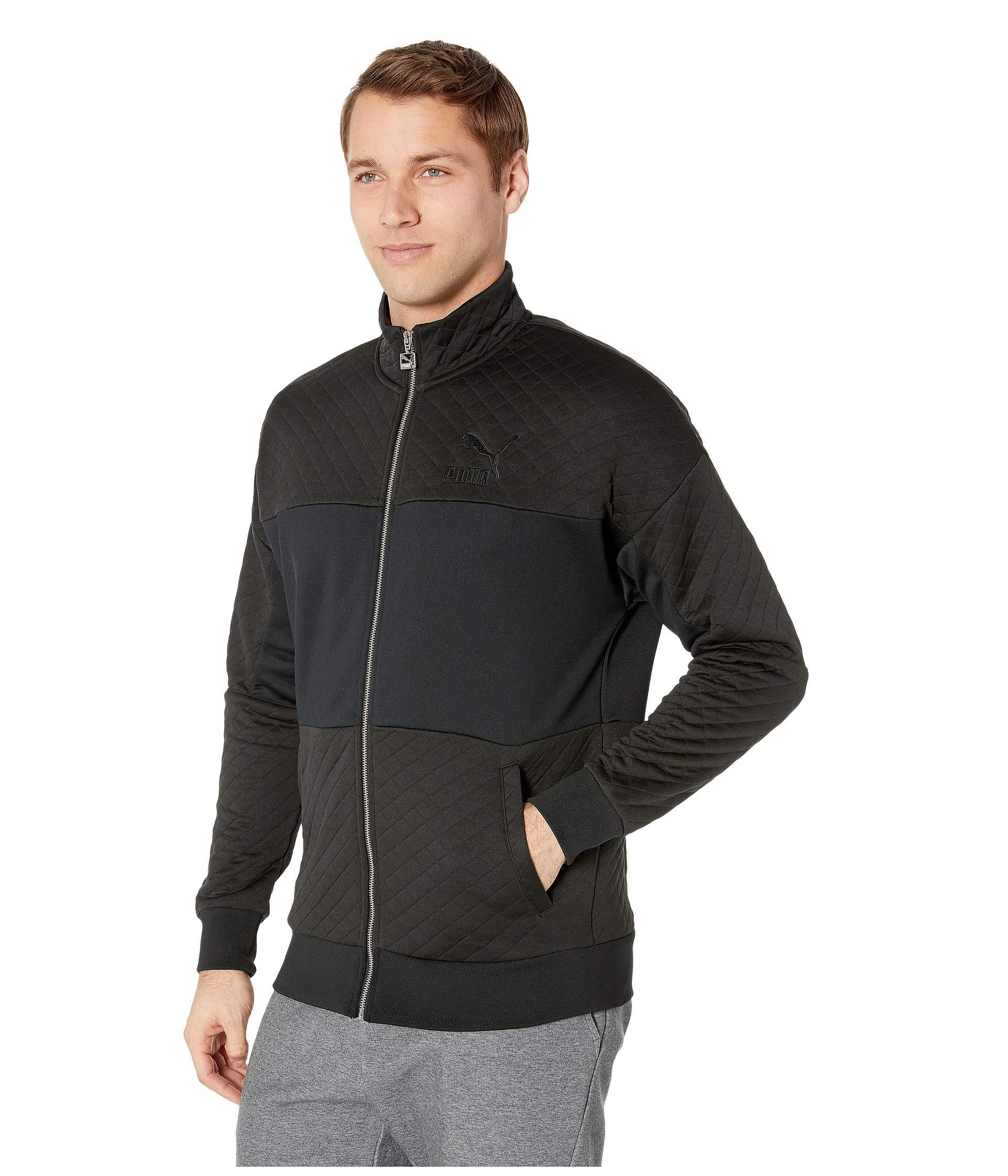 c10286742eed Lyst - PUMA Retro Quilted Jacket in Black for Men
