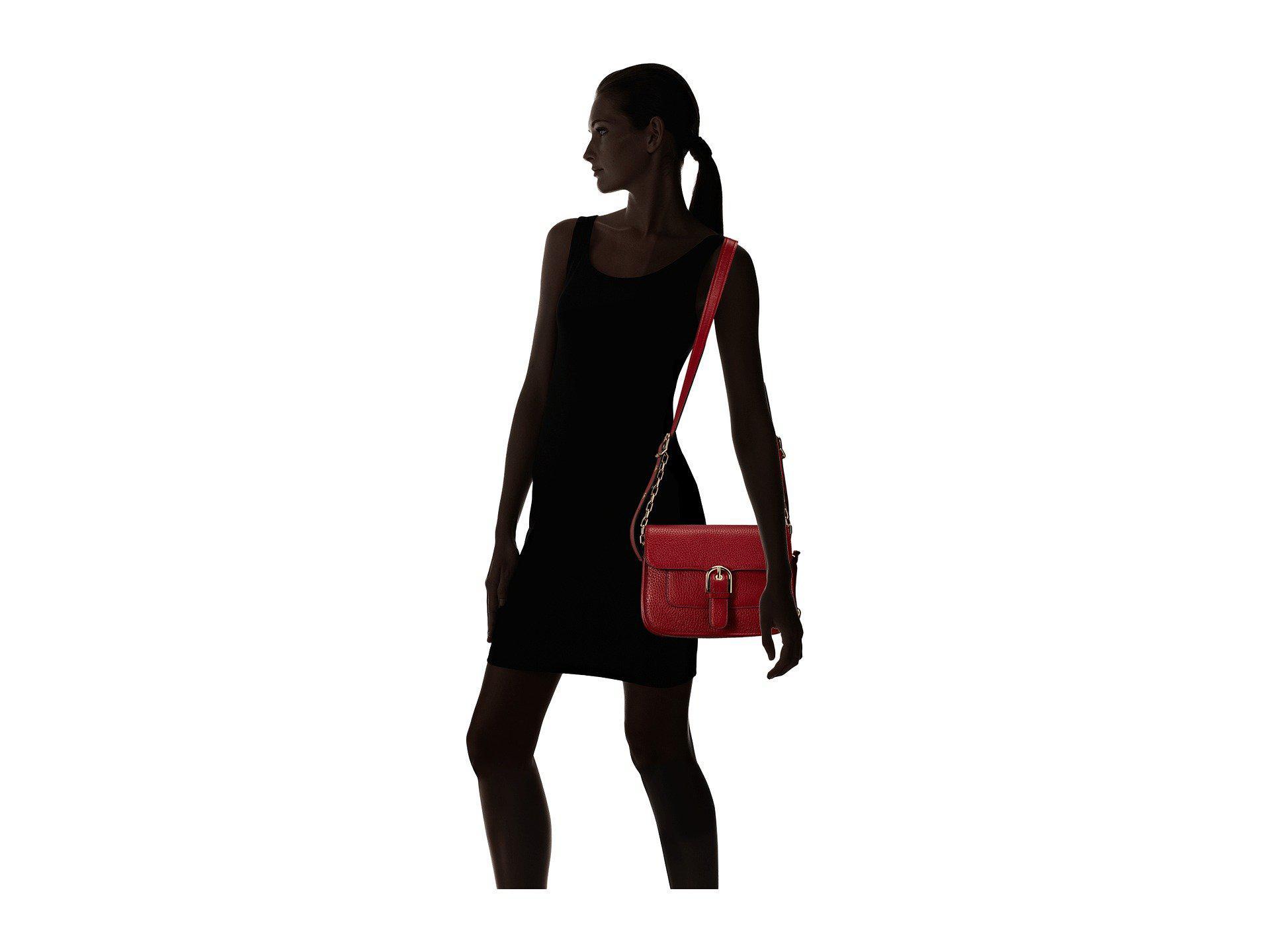 5b568f762f55 Lyst - Michael Michael Kors Cooper Medium Messenger in Red