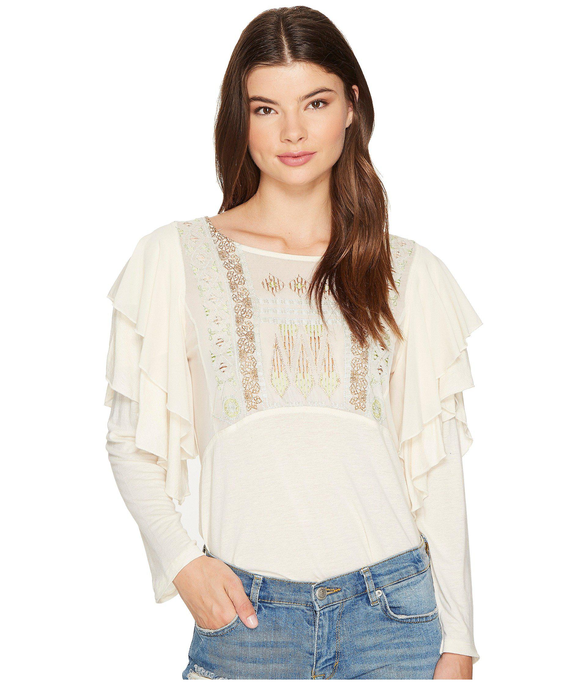 584353d473116 Lyst - Free People La Cienga Top in Natural - Save 42%