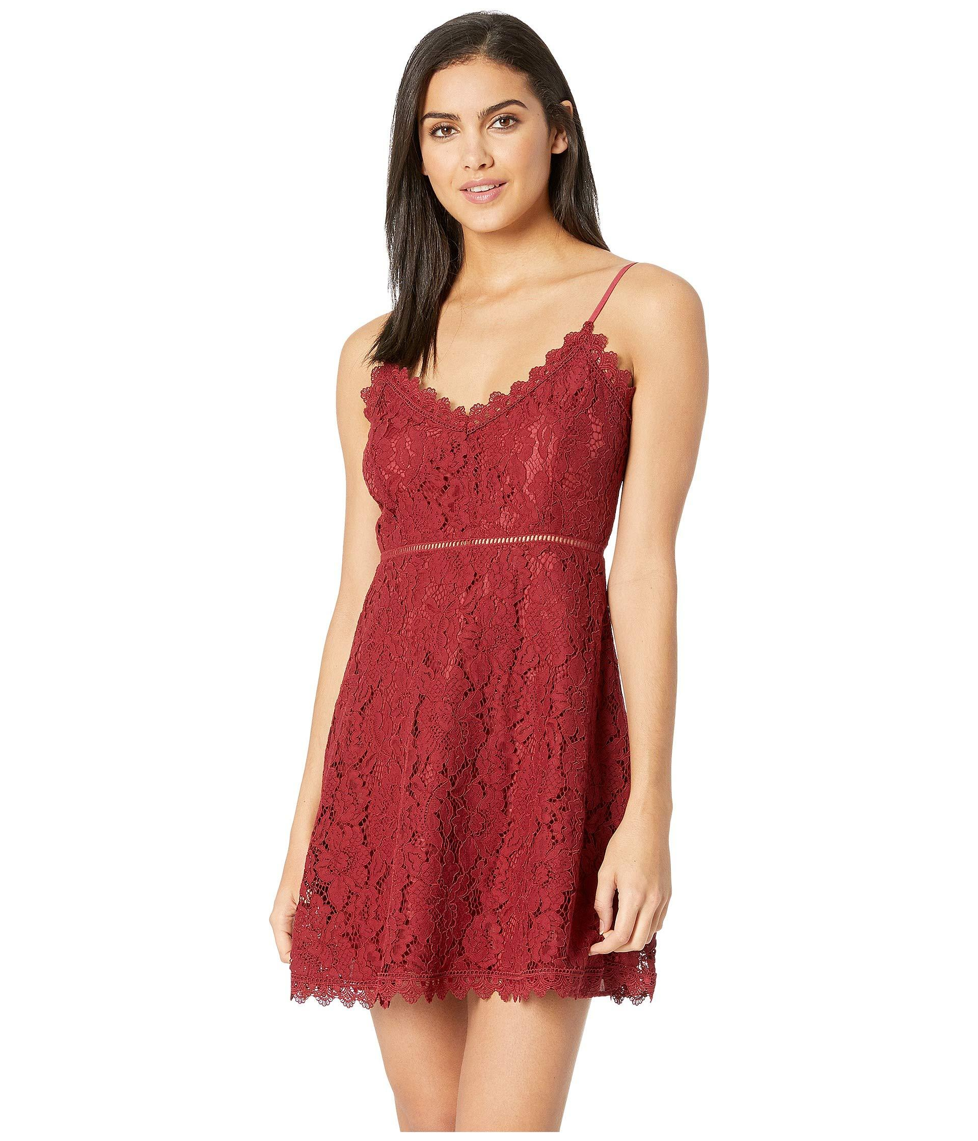 8b57734246156 Lyst - Jack BB Dakota The Music Lace Dress With Novelty Trim in Red ...