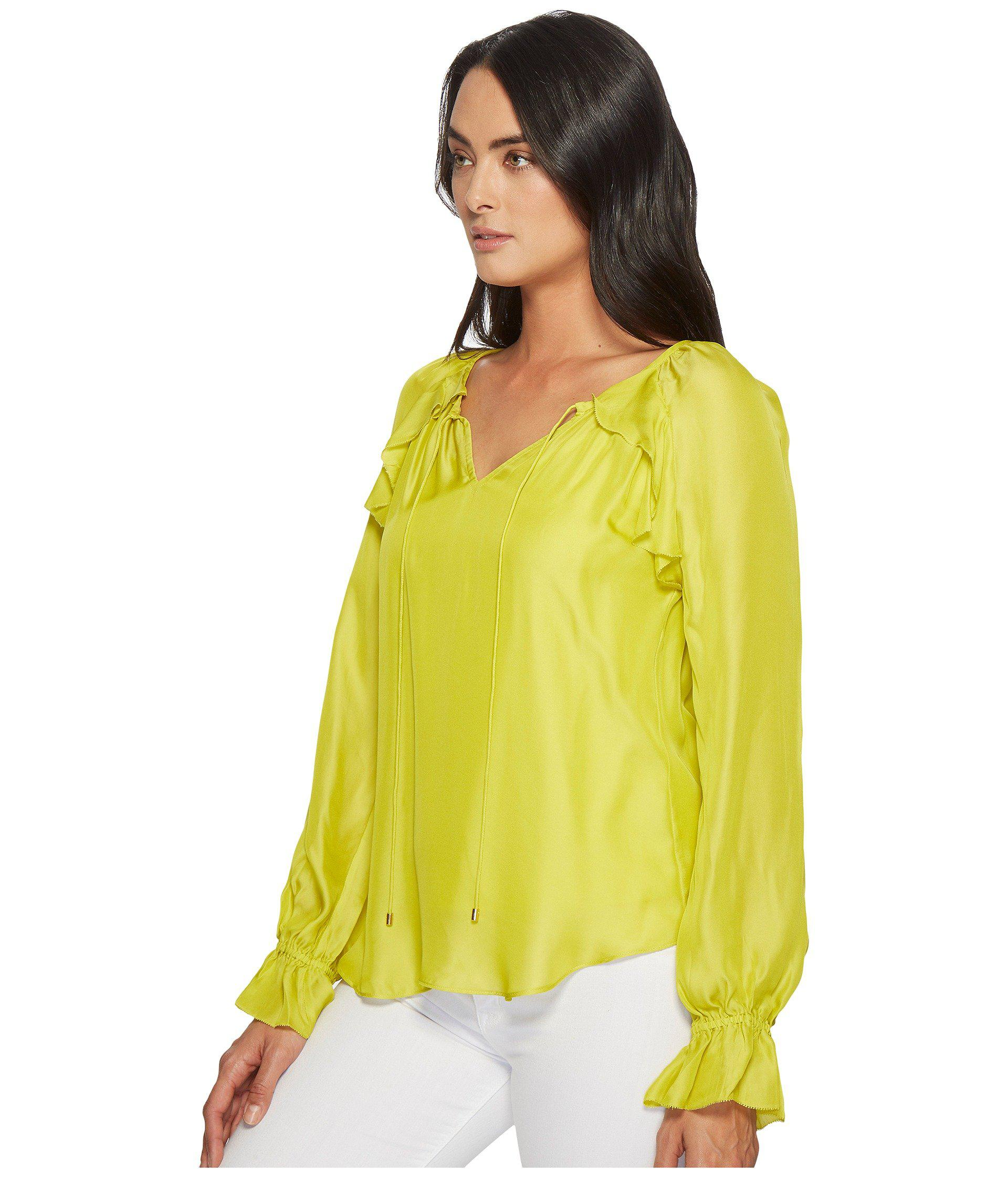 720bd16d6d3a26 Lyst - Trina Turk Magnolia Top in Yellow - Save 40%