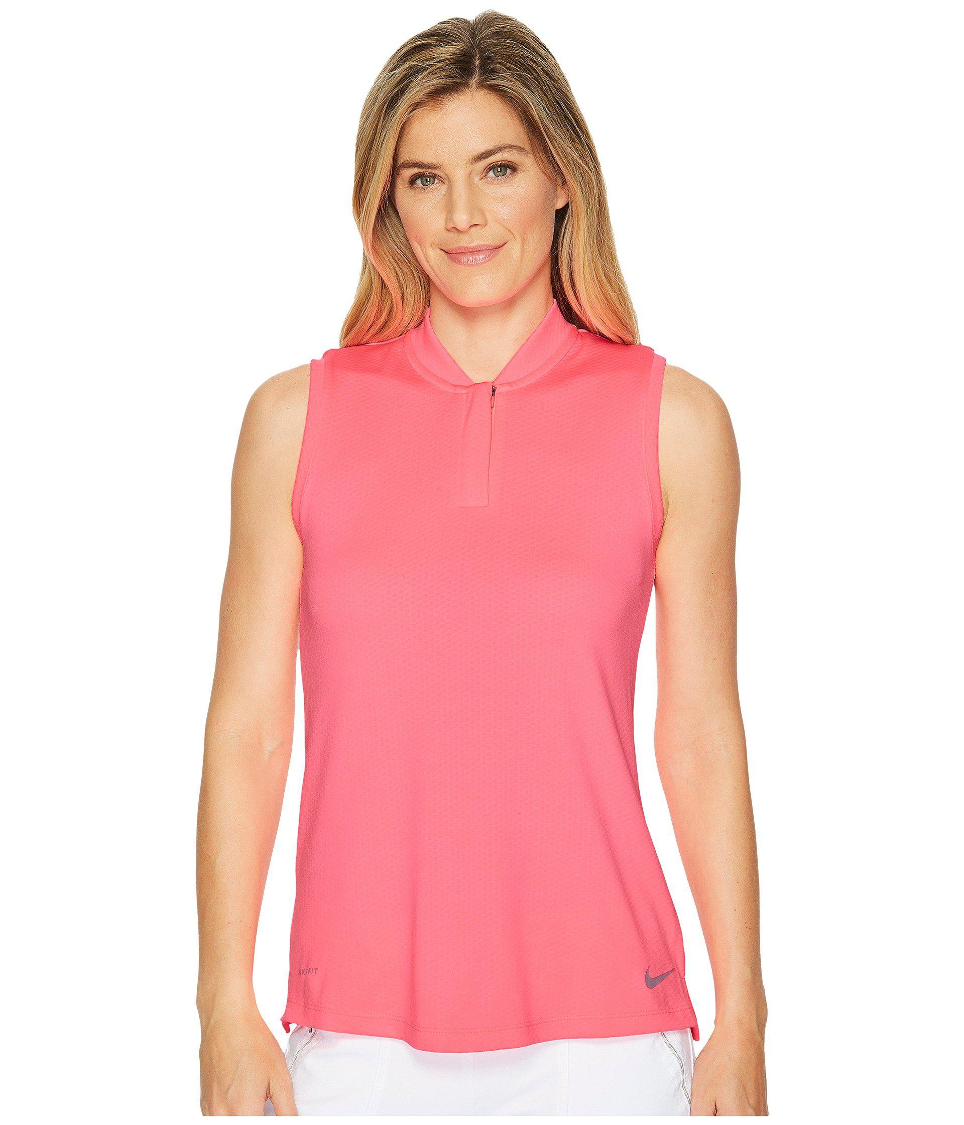 5ec6dec9 Lyst - Nike Dry Polo Sleeveless Blade in Pink - Save 25%