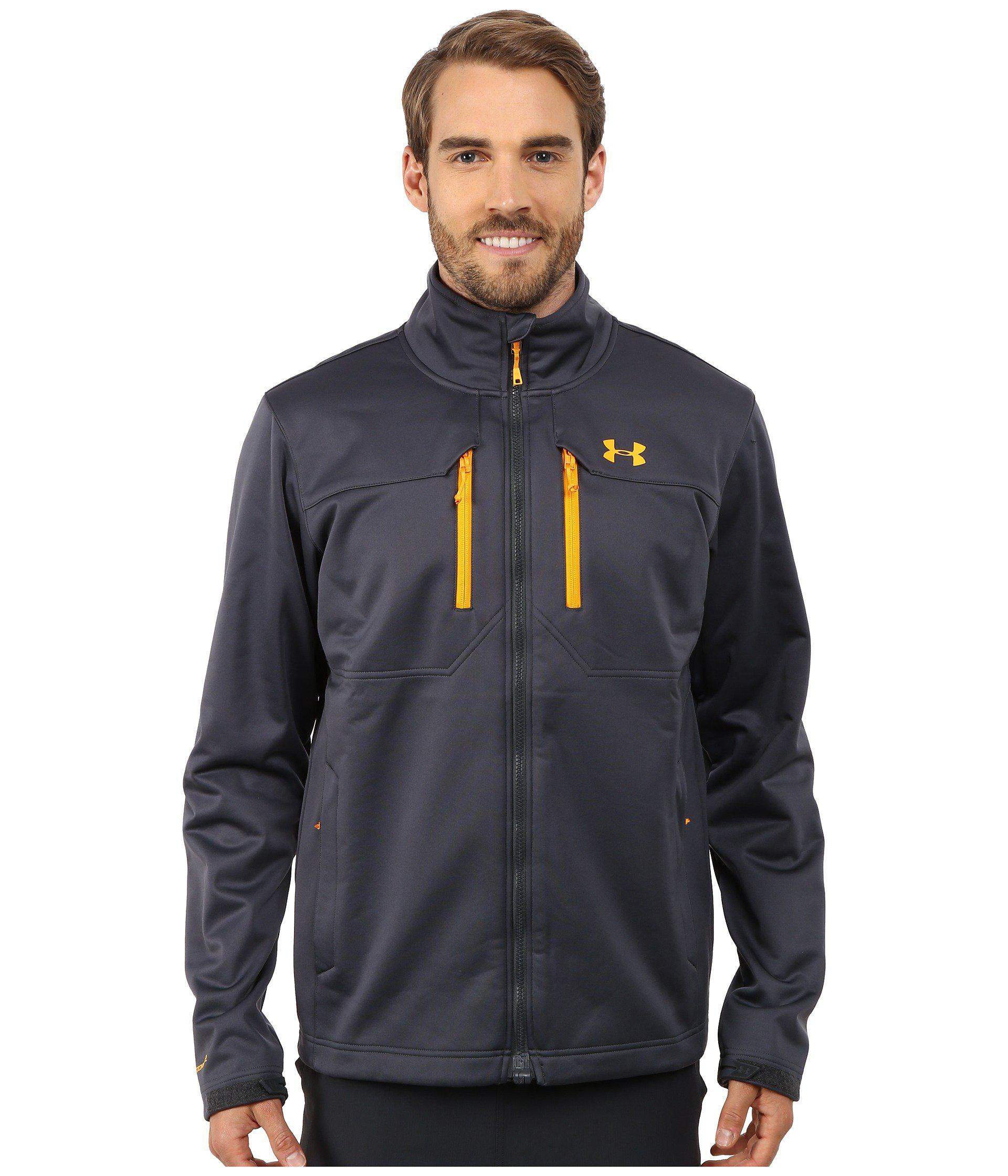Lyst Under Armour Ua Coldgear Infrared Softershell Jacket In Blue