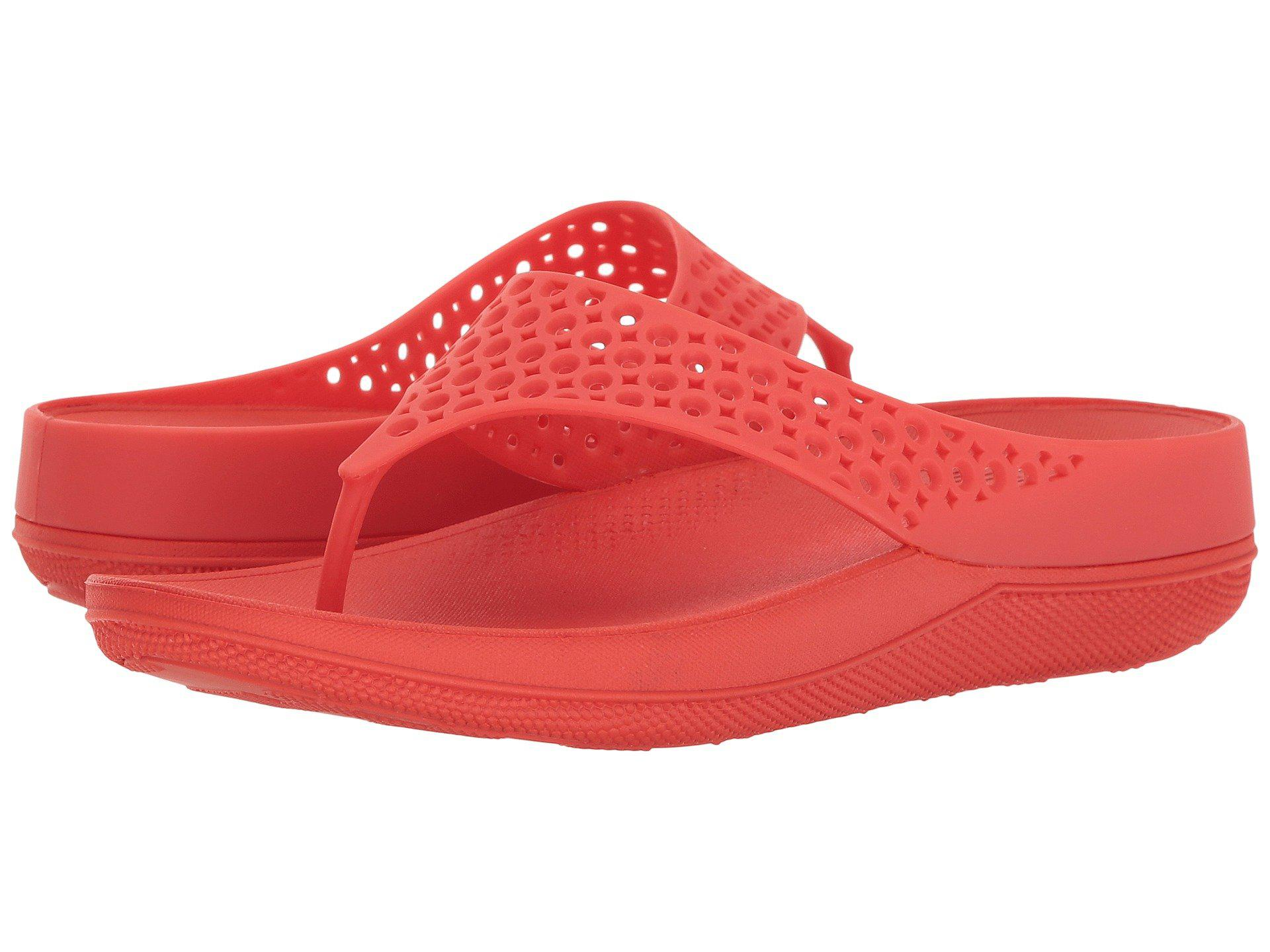 2dbda5e7023c3d Lyst - Fitflop Ringer Welljelly Flip-flop in Red - Save ...