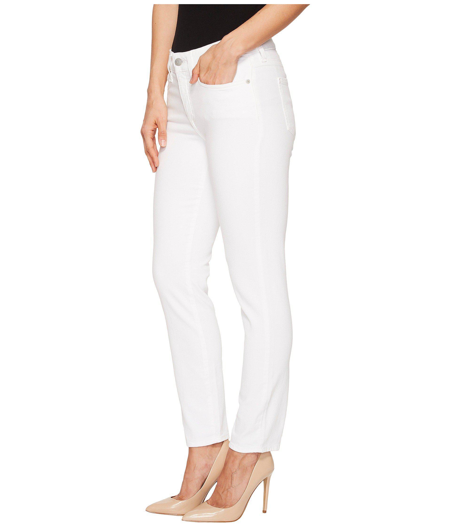 8f1eb3a98e1b3 Lyst - NYDJ Alina Ankle W/ Clean Hem In Optic White in White