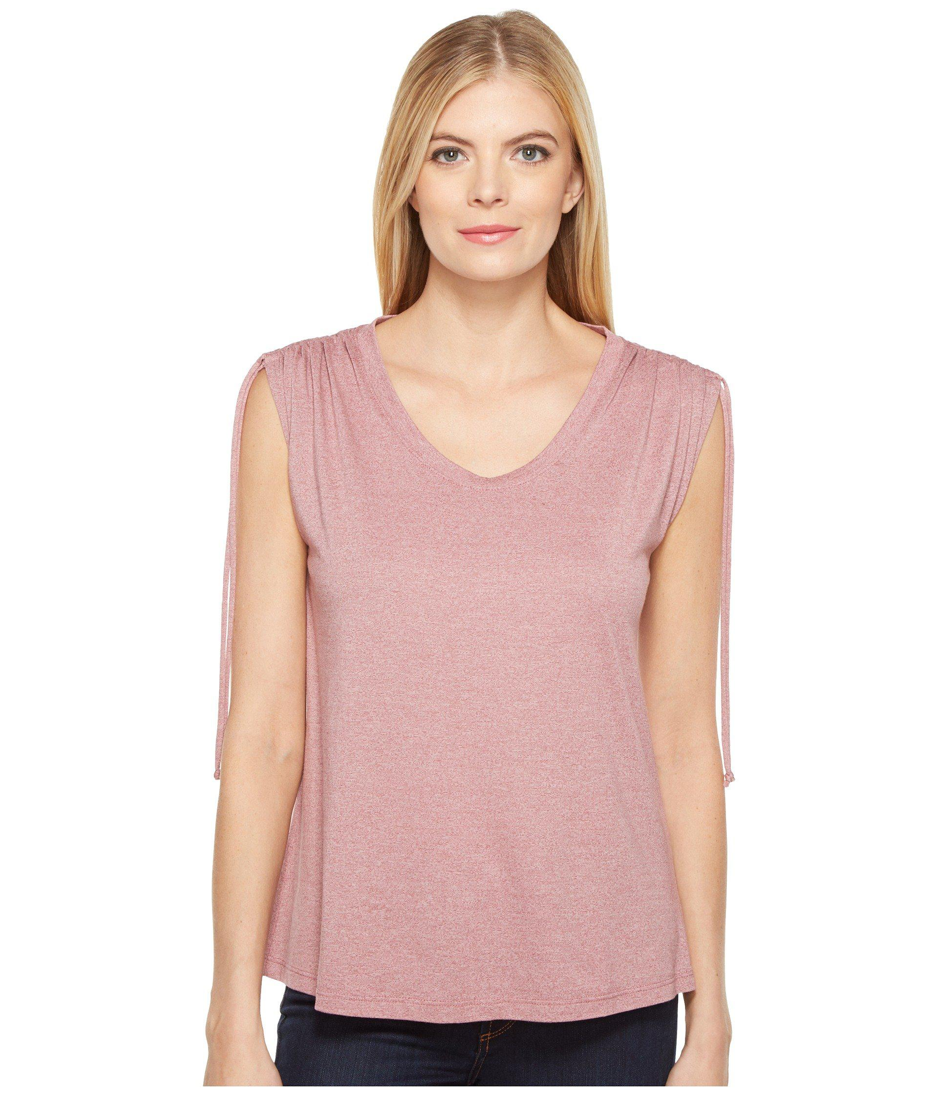 1f4a8b33bf399 Lyst - B Collection By Bobeau Juliette Tie Shoulder T-shirt in Pink ...