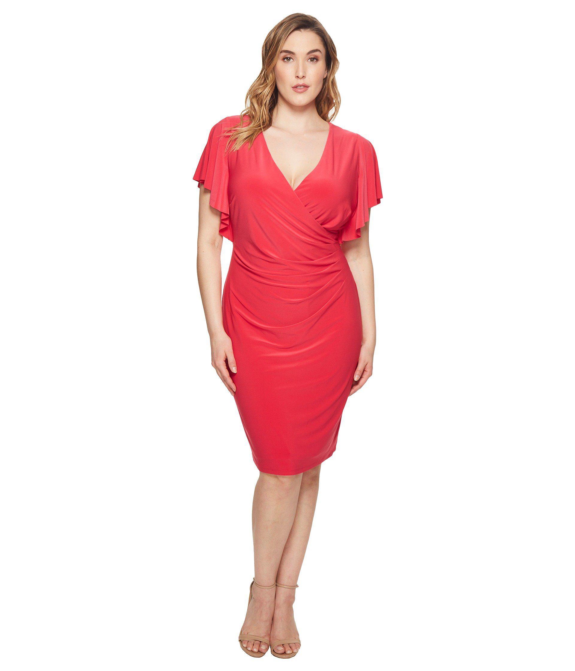 f7986631c1 Lauren by Ralph Lauren. Women s Red Plus Size Kahlo Matte Jersey Dress