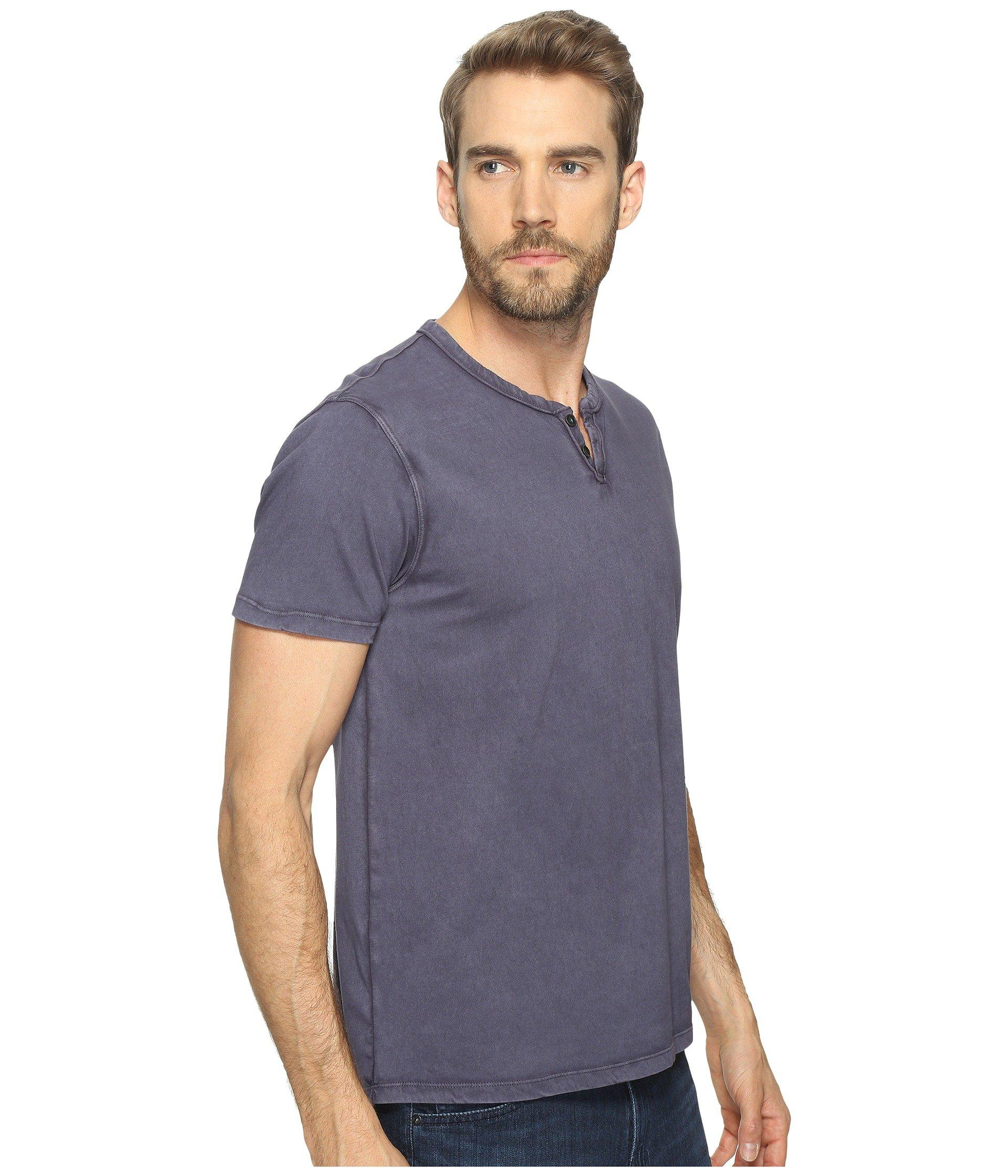 a0fcc82db8ff3 Lyst - Lucky Brand Button Notch Tee in Blue for Men