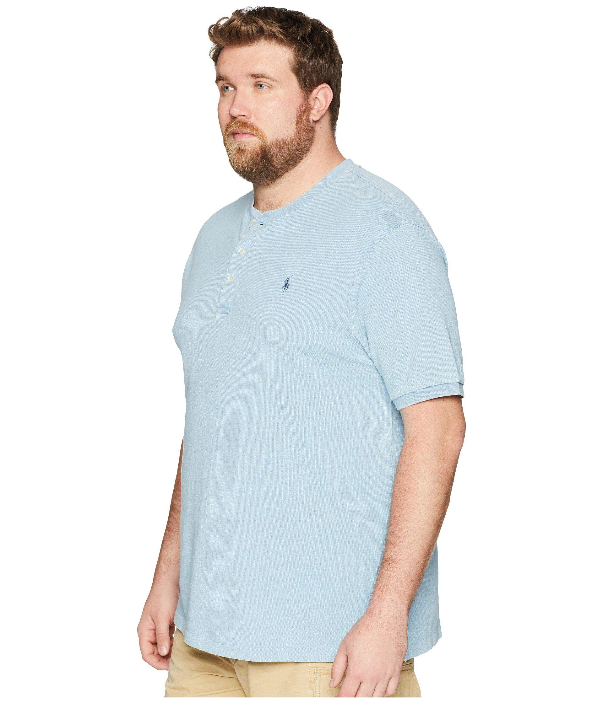 38a37aff9 Lyst - Polo Ralph Lauren Big & Tall Featherweight Mesh Short Sleeve Knit in  Blue for Men - Save 54.23728813559322%