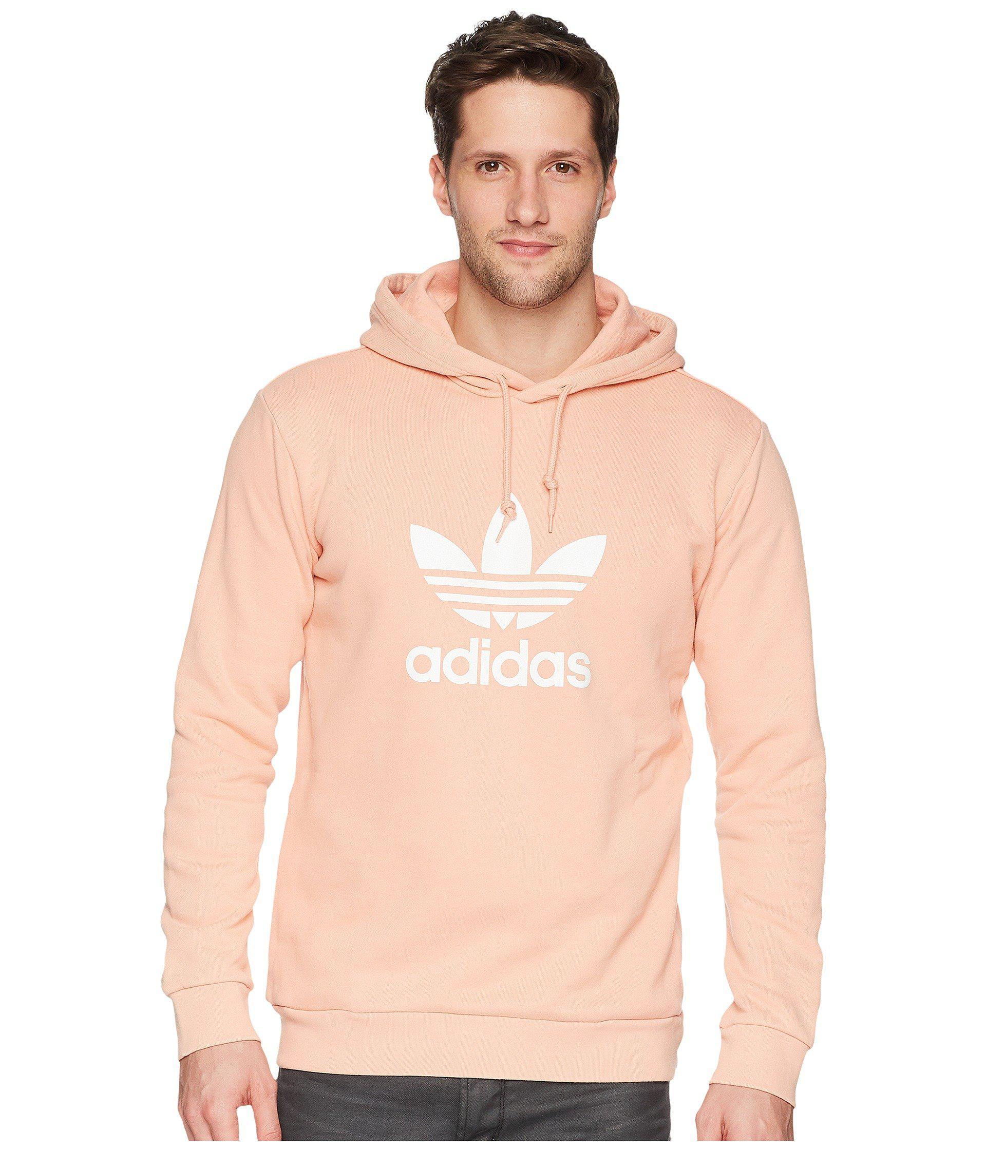 Lyst - Adidas Originals Trefoil Warm-up Hoodie in Pink for Men c4a05dfcc2